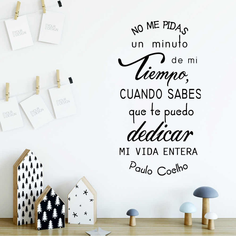 Spanish Quotes Wall Sticker Waterproof Vinyl Wallpaper Decor Bedroom Decorative Wall Phrases Art Decals Wallstickers In Spanish Ornamental Wall Decor (View 8 of 30)