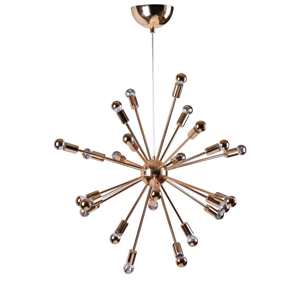 Spark Hanging Chandelier 23 Inches Gold (spark Hanging Regarding Bacchus 12 Light Sputnik Chandeliers (View 18 of 30)