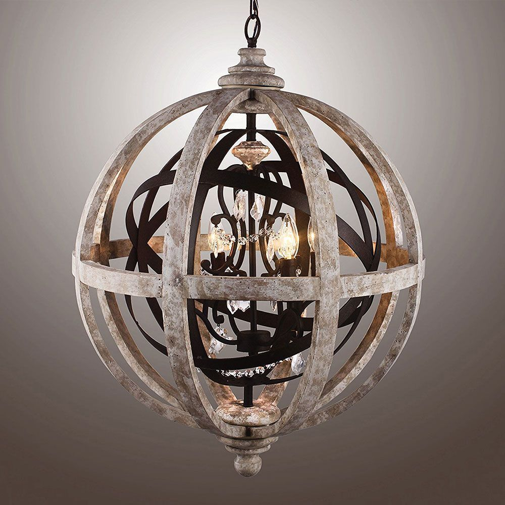 Special Concept Wood Globe Chandelier – 63.141. (View 25 of 30)