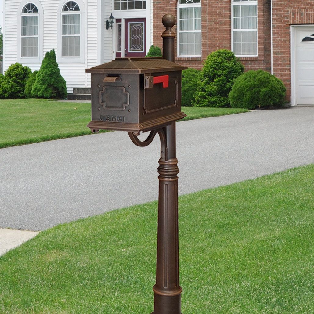 Special Lite Products Kingston Mailbox With Post Included pertaining to Lacordaire Wall Mounted Mailbox (Image 25 of 30)