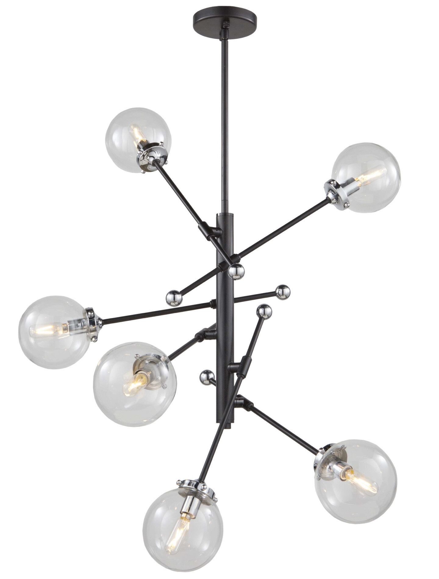 Spiegel 6 Light Novelty Chandelier Intended For Eladia 6 Light Sputnik Chandeliers (View 18 of 30)