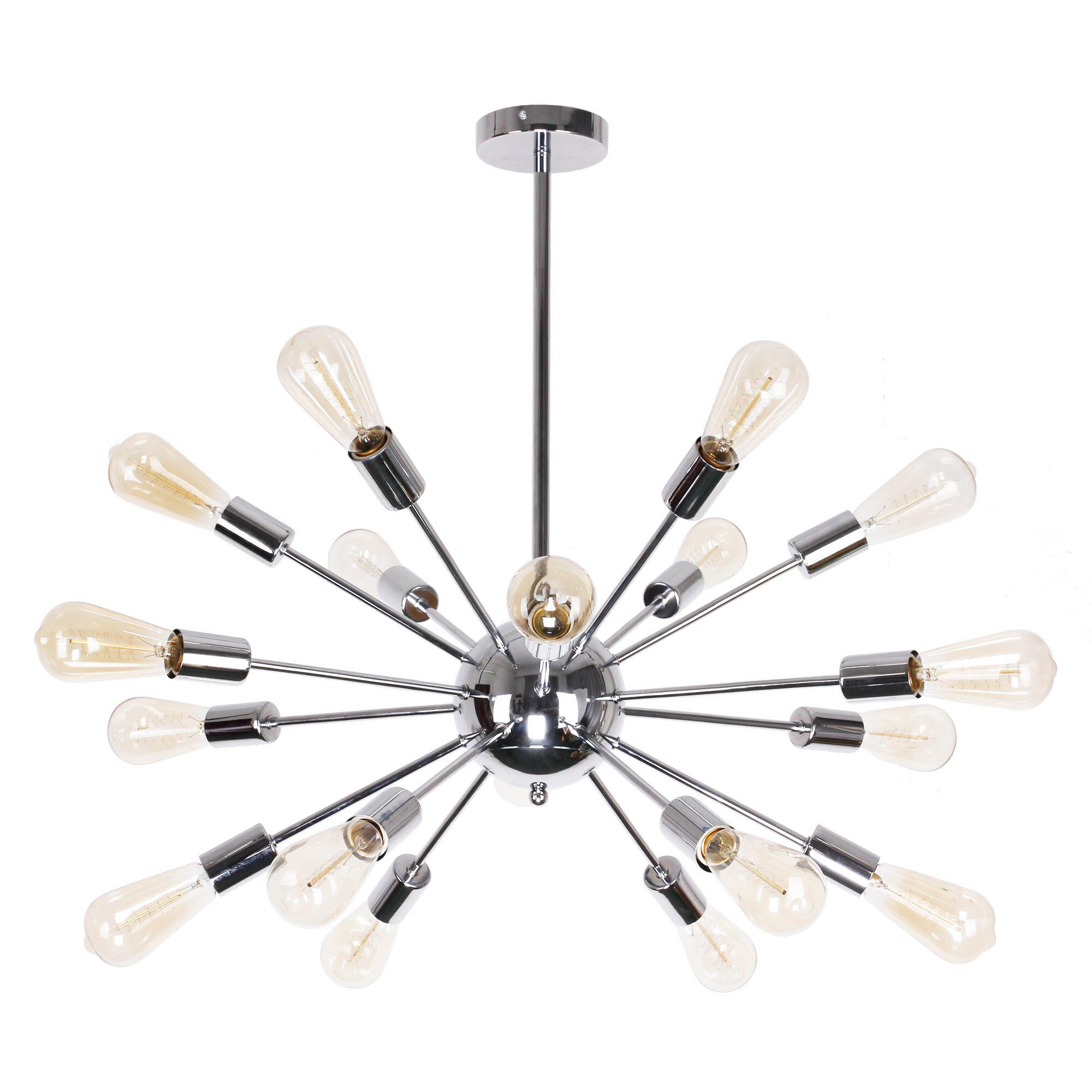 Spies Edison 18 Light Sputnik Chandelier Inside Defreitas 18 Light Sputnik Chandeliers (View 5 of 30)