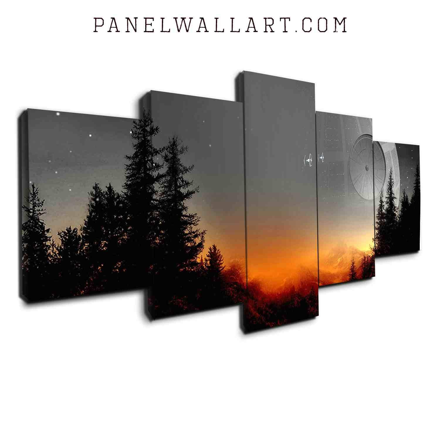 Star Wars Canvas Art | Panelwallart For Contemporary Forest Metal Wall Decor (View 11 of 30)
