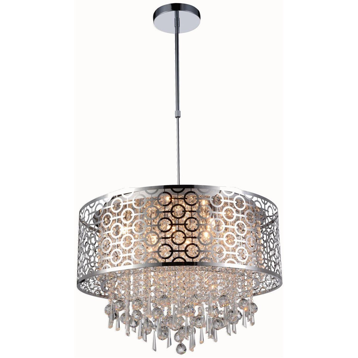 "Sterling 23"" Crystal Pendant Chandelier With 8 Lights pertaining to Aldgate 4-Light Crystal Chandeliers (Image 26 of 30)"