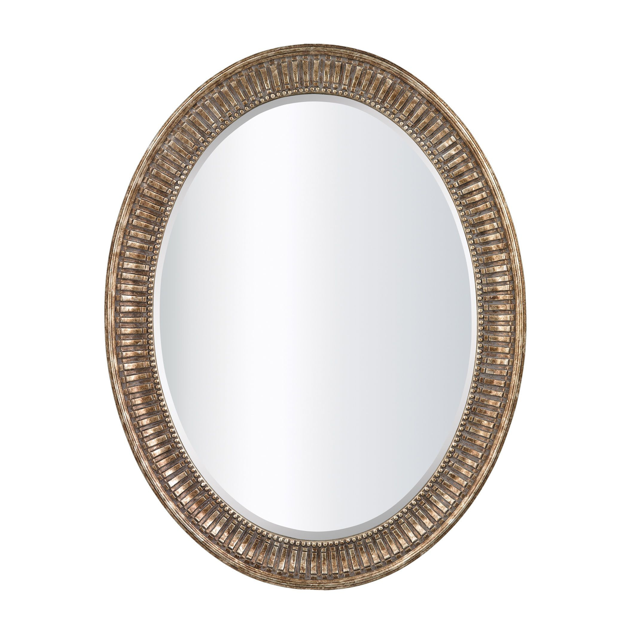 Sterling Industries Franklin Oval Beveled Mirror (Silver inside Josephson Starburst Glam Beveled Accent Wall Mirrors (Image 20 of 22)