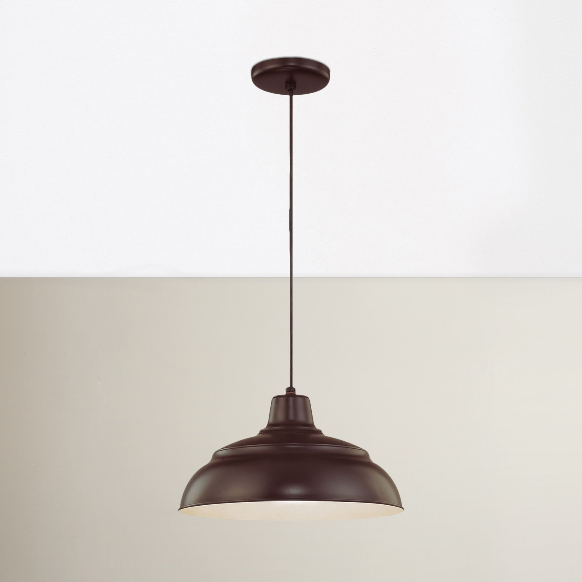 Stetson 1-Light Bowl Pendant intended for Southlake 1-Light Single Dome Pendants (Image 29 of 30)