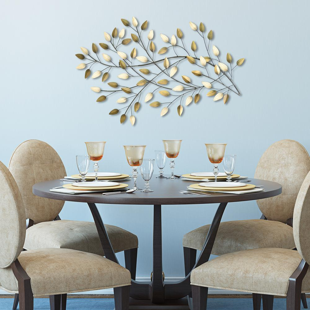Stratton Home Decor Blowing Leaves Pertaining To Blowing Leaves Wall Decor (View 7 of 30)