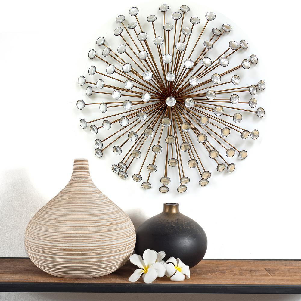 Stratton Home Decor Bronze Acrylic Burst Intended For 3 Piece Acrylic Burst Wall Decor Sets (set Of 3) (View 11 of 30)