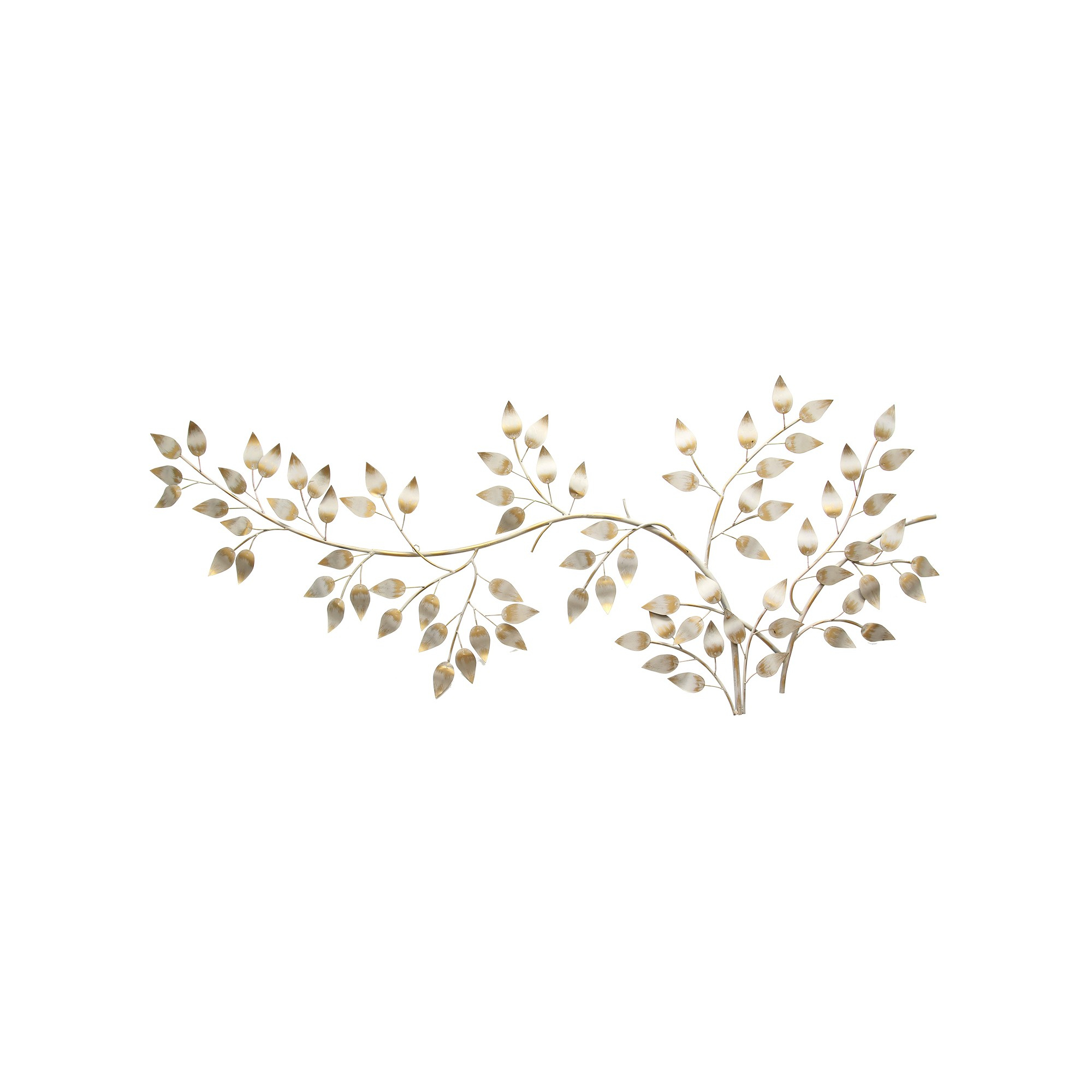Stratton Home Decor Brushed Gold Flowing Leaves Wall Decor in Flowing Leaves Wall Decor (Image 25 of 30)