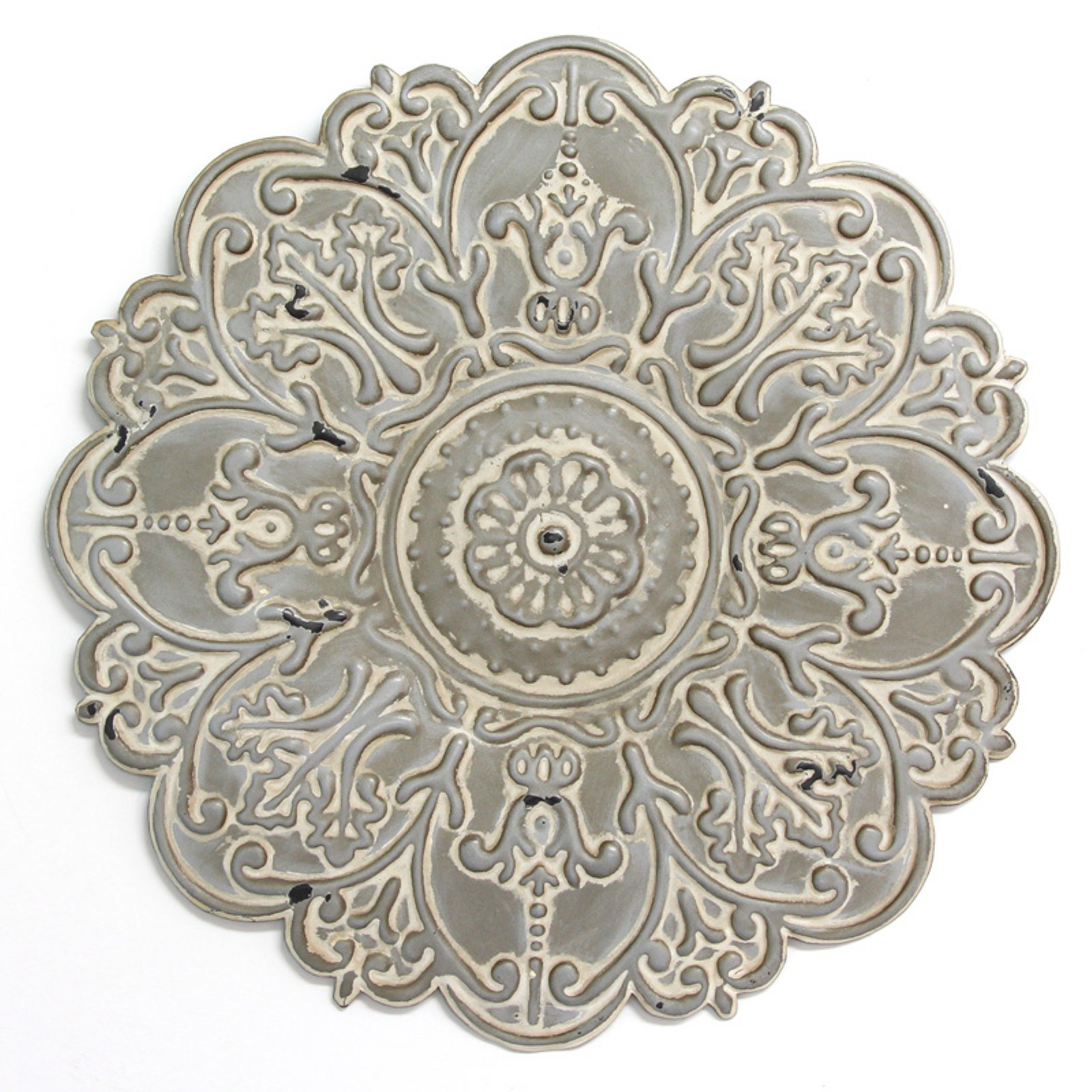 Stratton Home Decor Embossed Floral Wall Decor Blue In 2019 Regarding European Medallion Wall Decor (View 5 of 30)