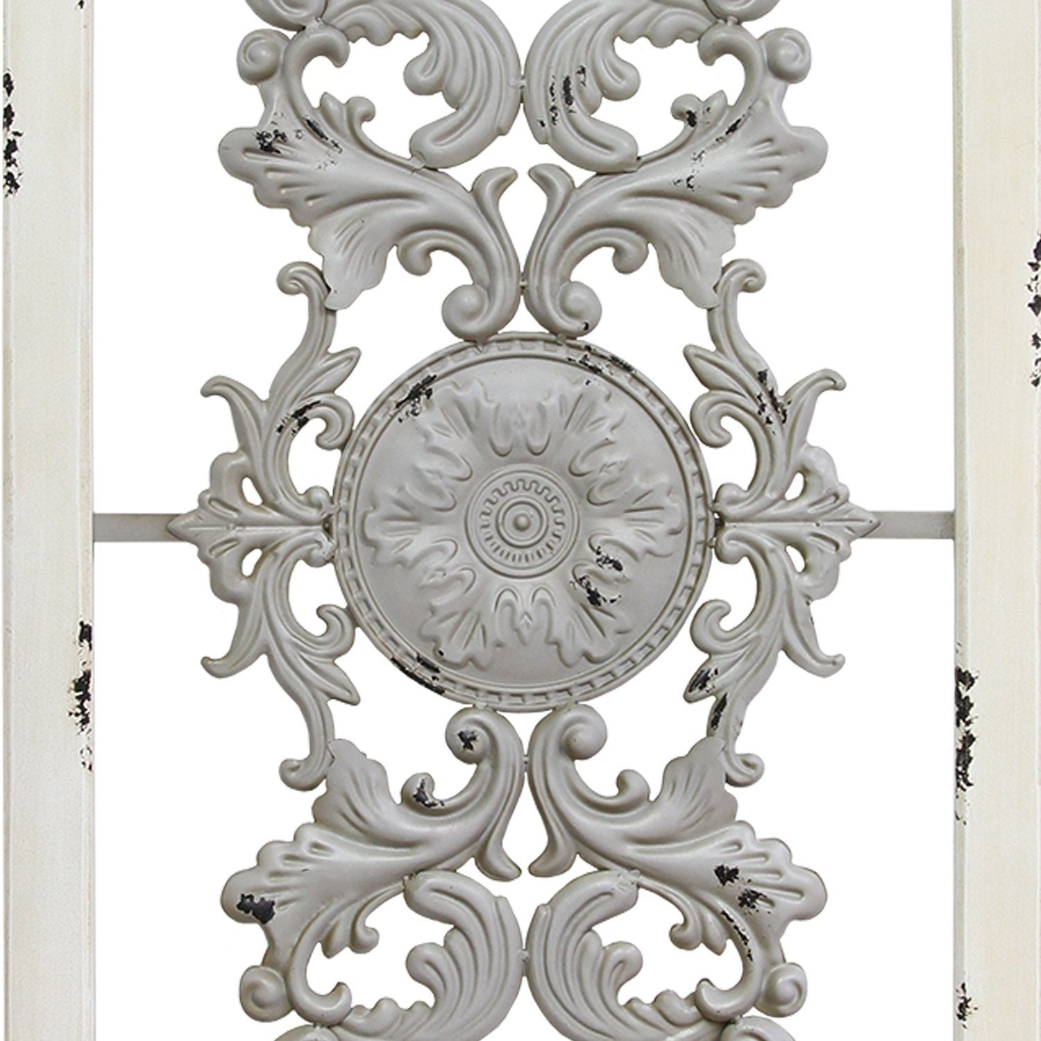 Stratton Home Decor Grey Scroll Panel Wall Decor throughout Scroll Panel Wall Decor (Image 22 of 30)