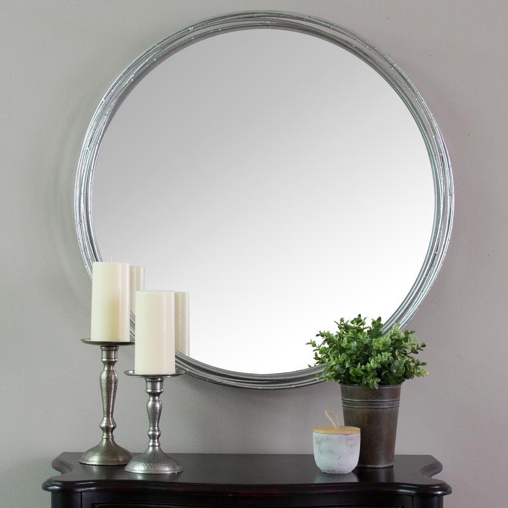Stratton Home Decor Jocelyn Metal Wall Mirror S09557 – The Pertaining To Estrela Modern Sunburst Metal Wall Mirrors (View 23 of 30)