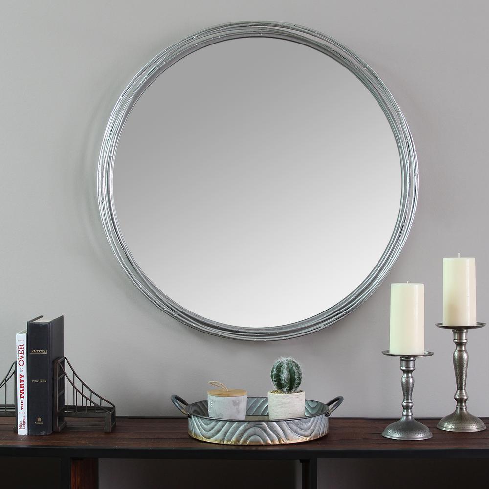 Stratton Home Decor Jocelyn Metal Wall Mirror S09557 – The Within Estrela Modern Sunburst Metal Wall Mirrors (View 24 of 30)