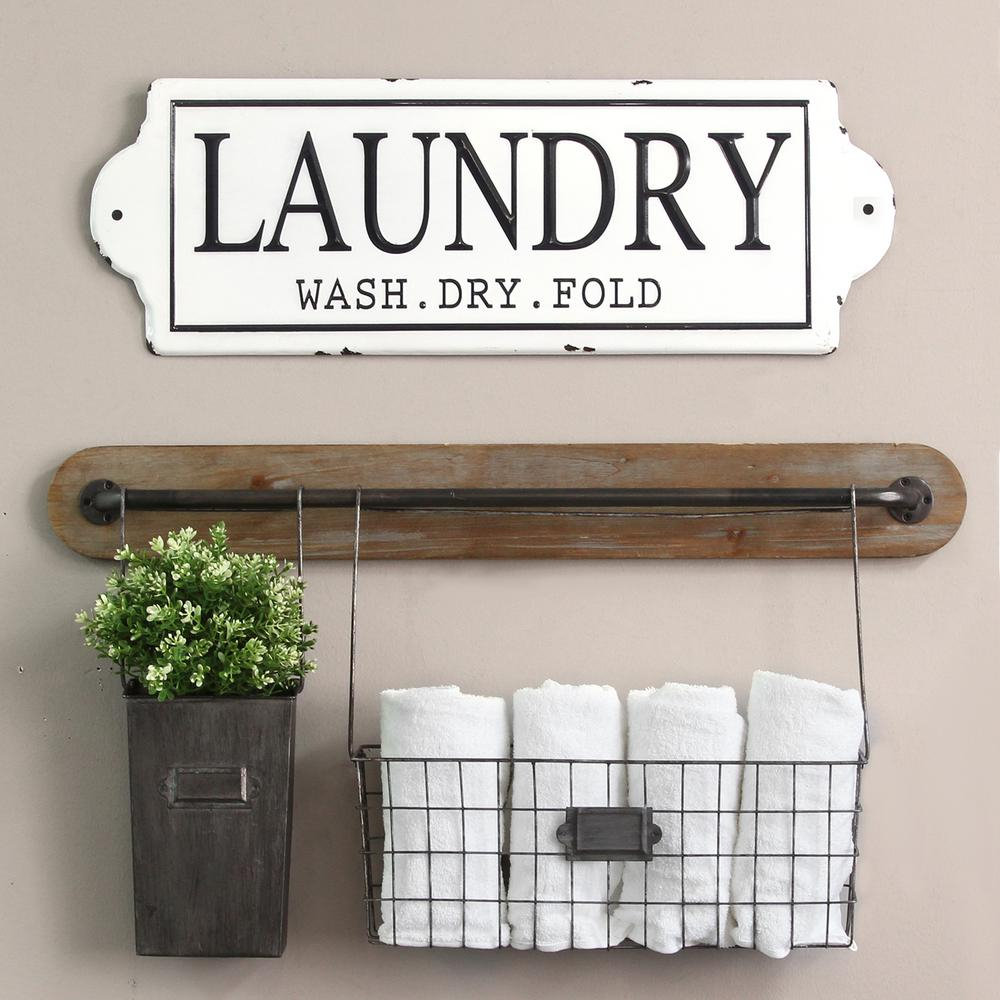 Stratton Home Decor Metal Laundry Wall Decor S15047 - The with 3 Piece Wash, Brush, Comb Wall Decor Sets (Set Of 3) (Image 24 of 30)