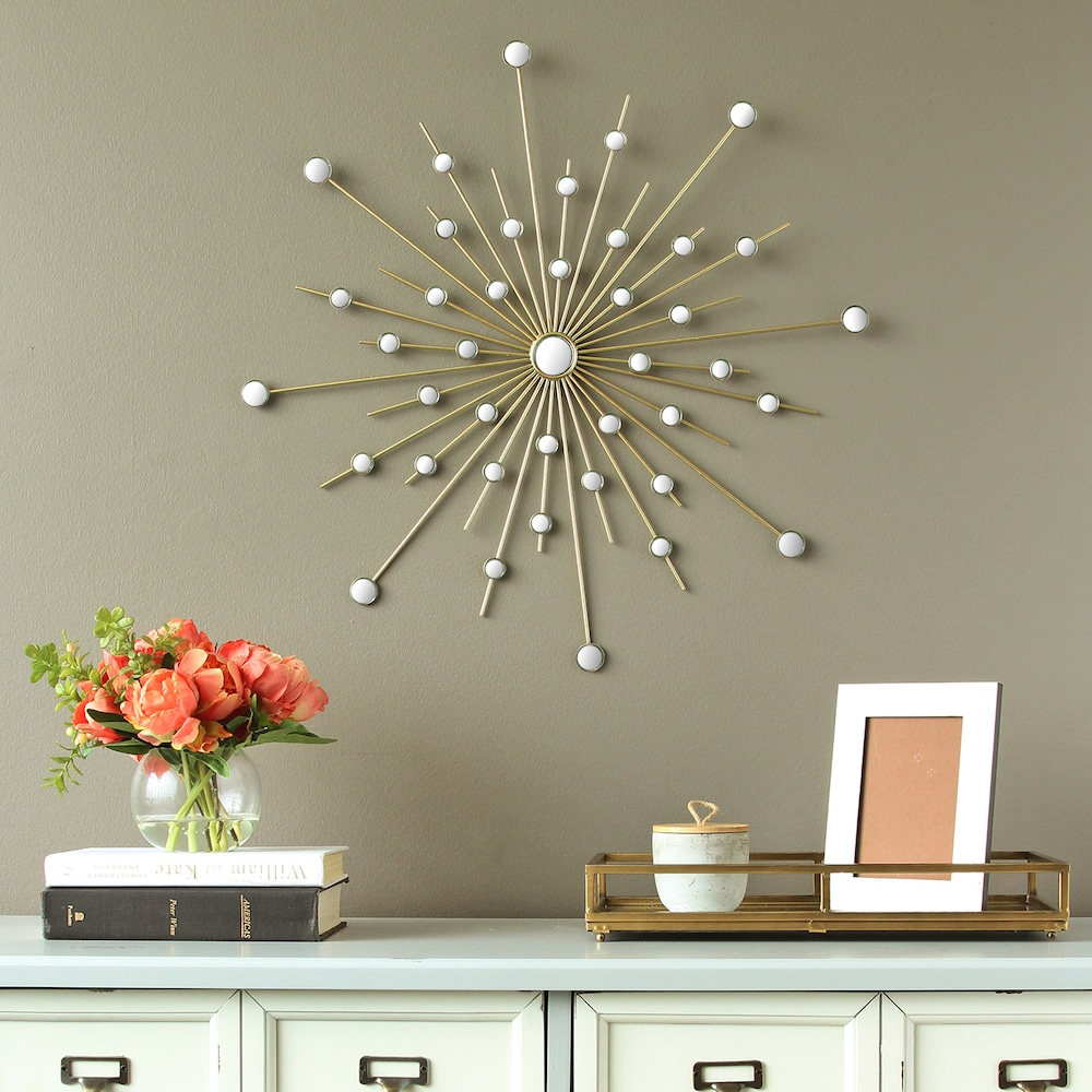 Stratton Home Decor Mirrored Starburst Wall Decor | Products Throughout Starburst Wall Decor (View 19 of 30)