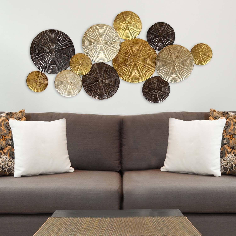 Stratton Home Decor Multi Circles Wall Decor | Foxcroft for Multi Plates Wall Decor (Image 25 of 30)