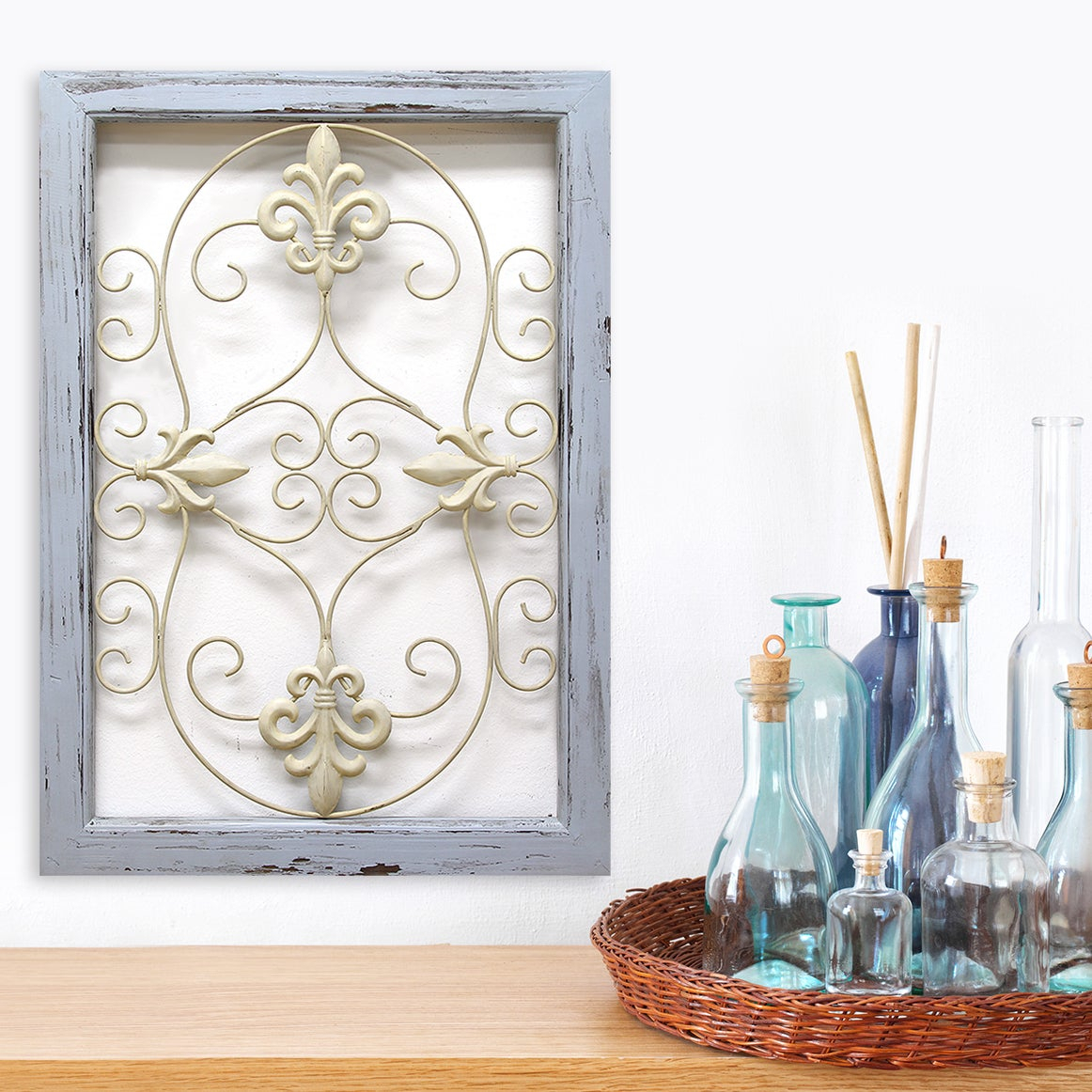 Stratton Home Decor Scroll Panel Wall Decor with Scroll Panel Wall Decor (Image 24 of 30)