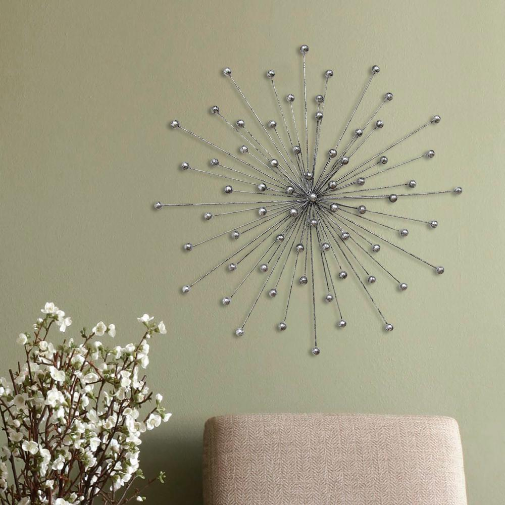 Stratton Home Decor Silver Burst Wall Decor In 2019 | For intended for Alvis Traditional Metal Wall Decor (Image 24 of 30)