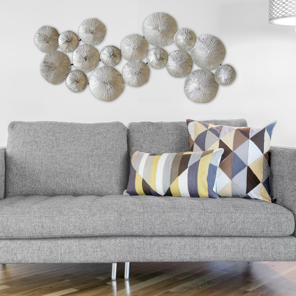 Stratton Home Decor Silver Circles Metal Wall Decor with Alvis Traditional Metal Wall Decor (Image 25 of 30)