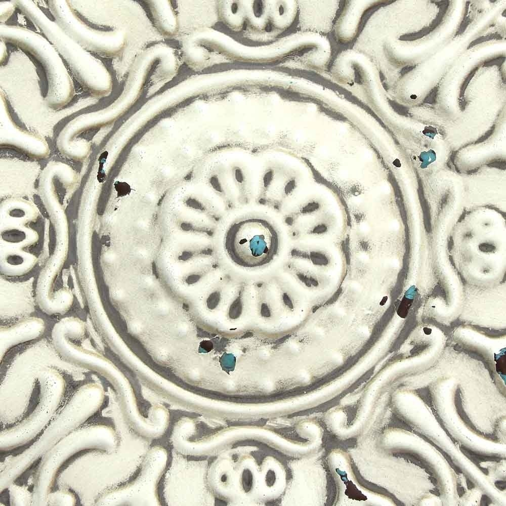 Stratton Home Decor Small White Medallion Wall Decor pertaining to Small Medallion Wall Decor (Image 22 of 30)