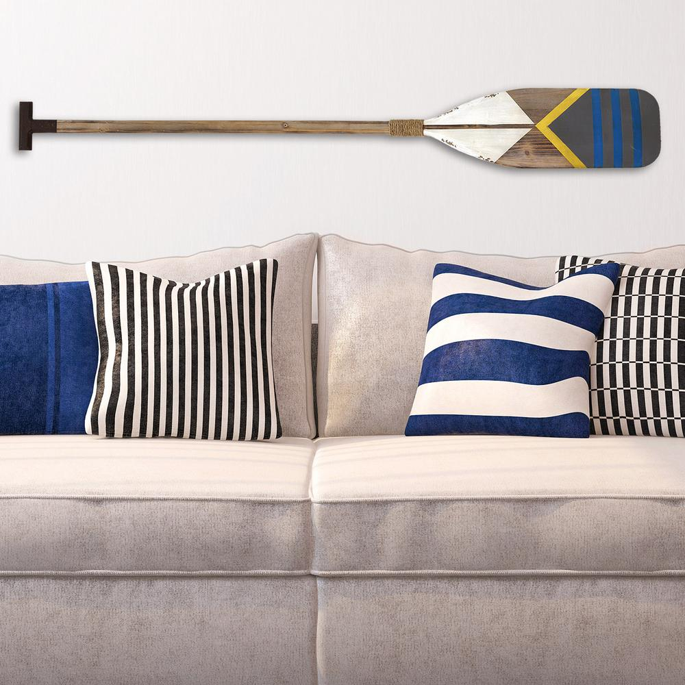 Stratton Home Decor Stratton Home Decor Nautical Oar Wall within Metal Leaf Wall Decor By Red Barrel Studio (Image 26 of 30)