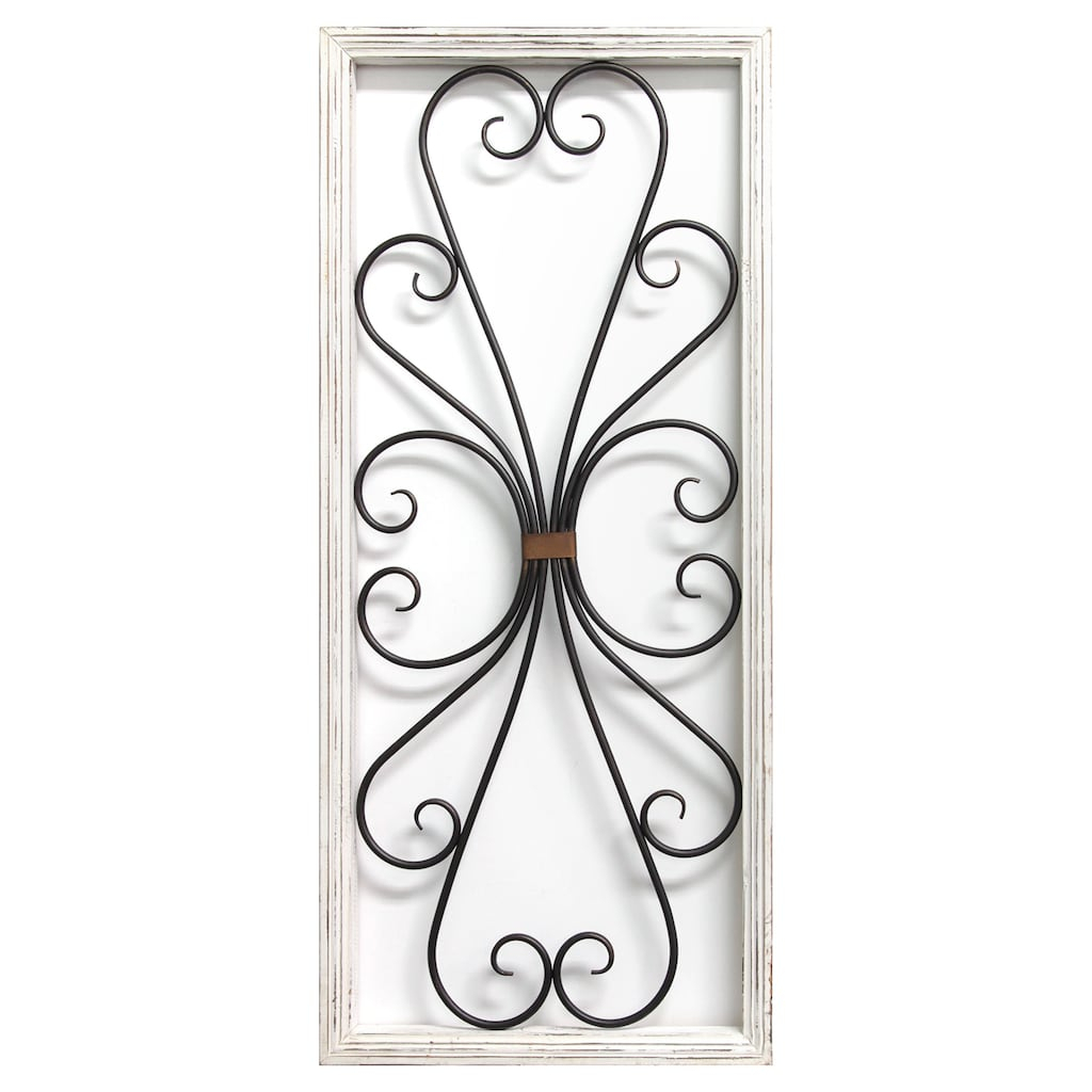 Stratton Home Decor White Scroll Panel Wall Decor In 2019 Pertaining To 1 Piece Ortie Panel Wall Decor (View 28 of 30)