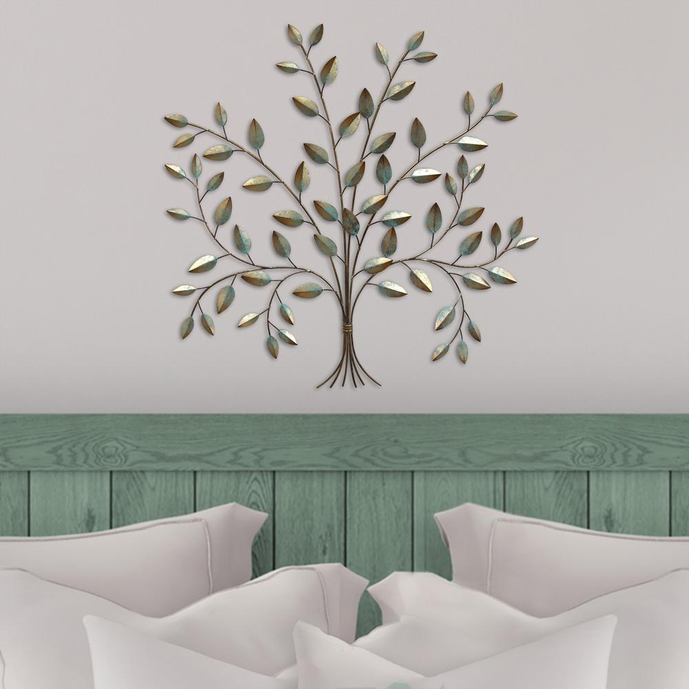 Stratton Home Metal Tree Of Life Wall Decor throughout Blowing Leaves Wall Decor (Image 24 of 30)