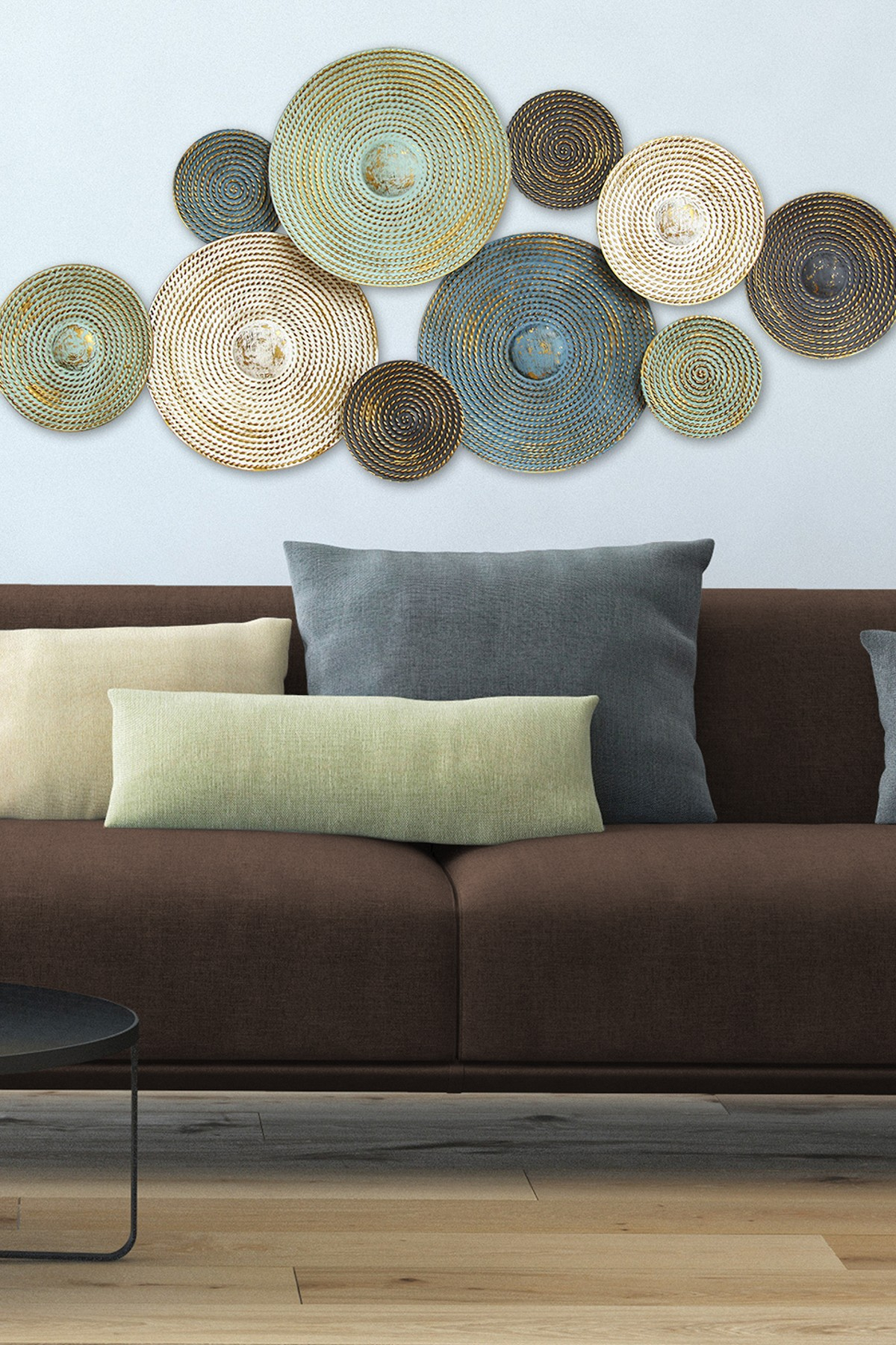 Stratton Home | Multi Asheville Textured Plates Wall Decor | Hautelook pertaining to Multi Plates Wall Decor (Image 26 of 30)