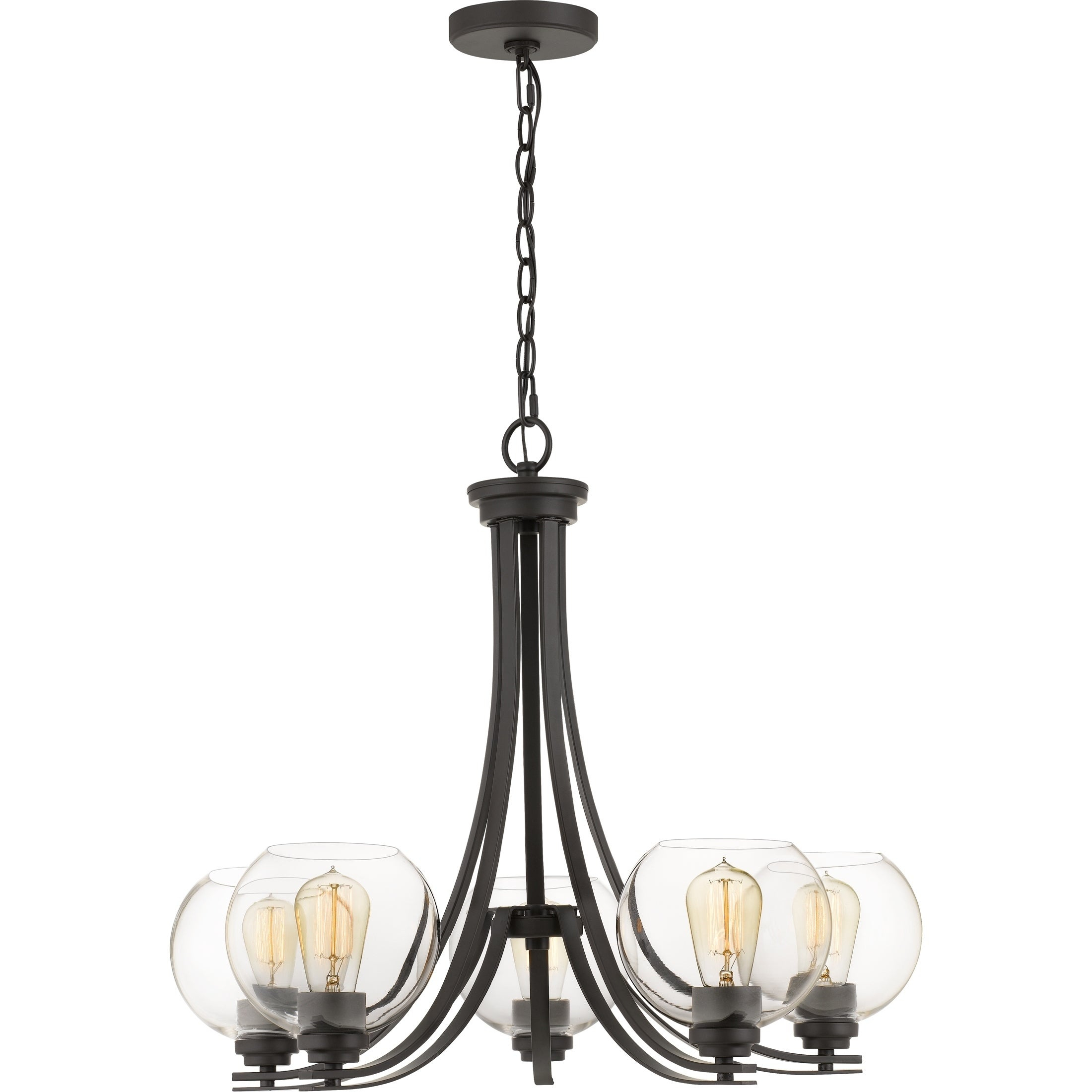 Strick & Bolton Catasse Clear Glass Chandelier Inside Hayden 5 Light Shaded Chandeliers (View 21 of 30)