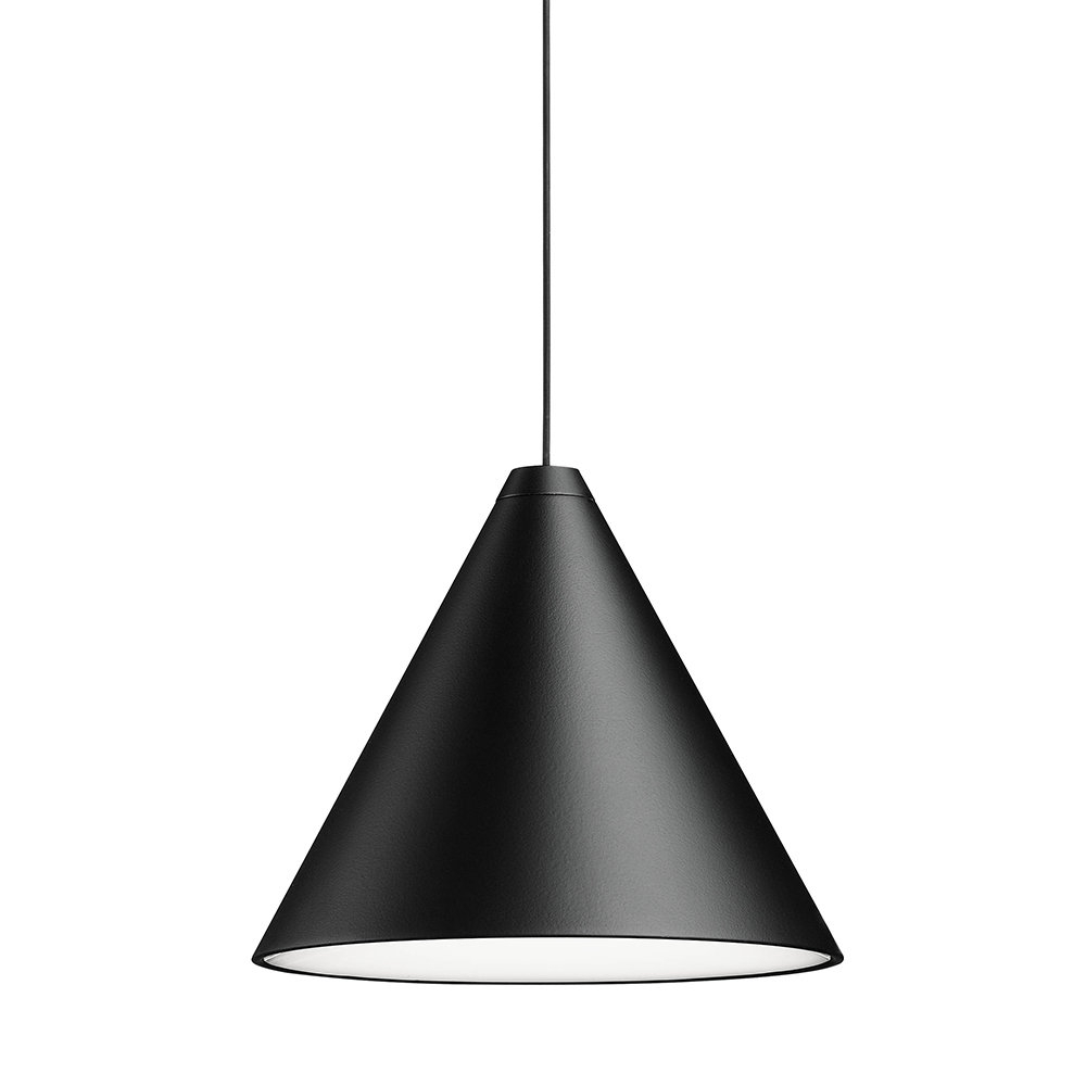 String Ceiling Light - Cone Head - Black in Moris 1-Light Cone Pendants (Image 28 of 30)