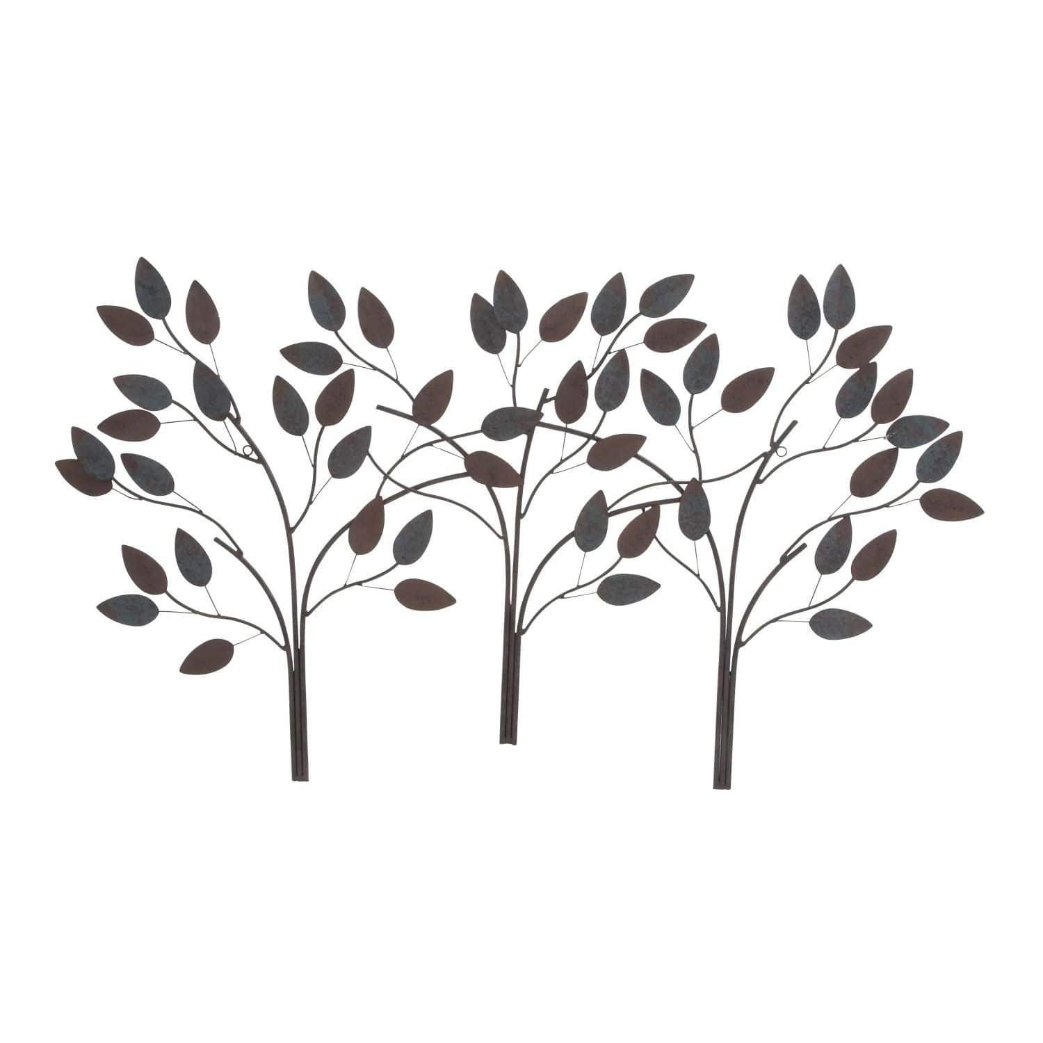 Studio 350 Metal Leaf Wall Decor 48 Inches Wide, 27 Inches Within Desford Leaf Wall Decor (View 4 of 30)