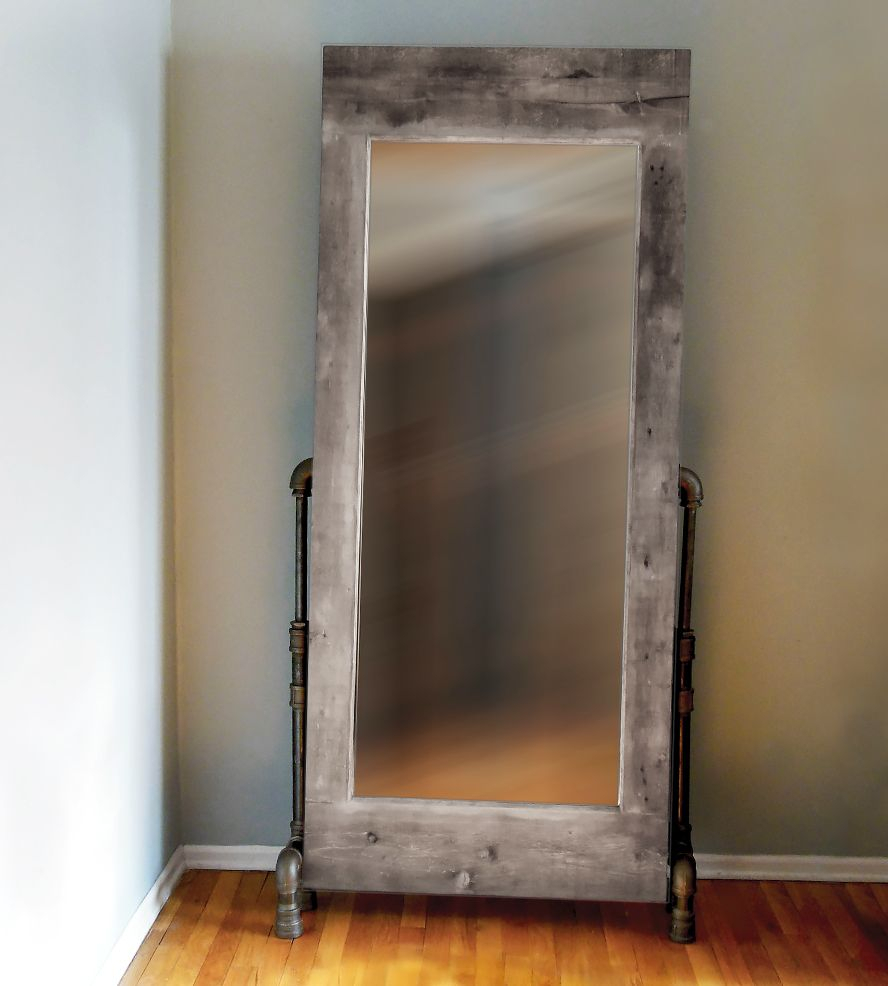 Styled Like Vintage In Brand New Materials, This Industrial Inside Industrial Full Length Mirrors (View 27 of 30)
