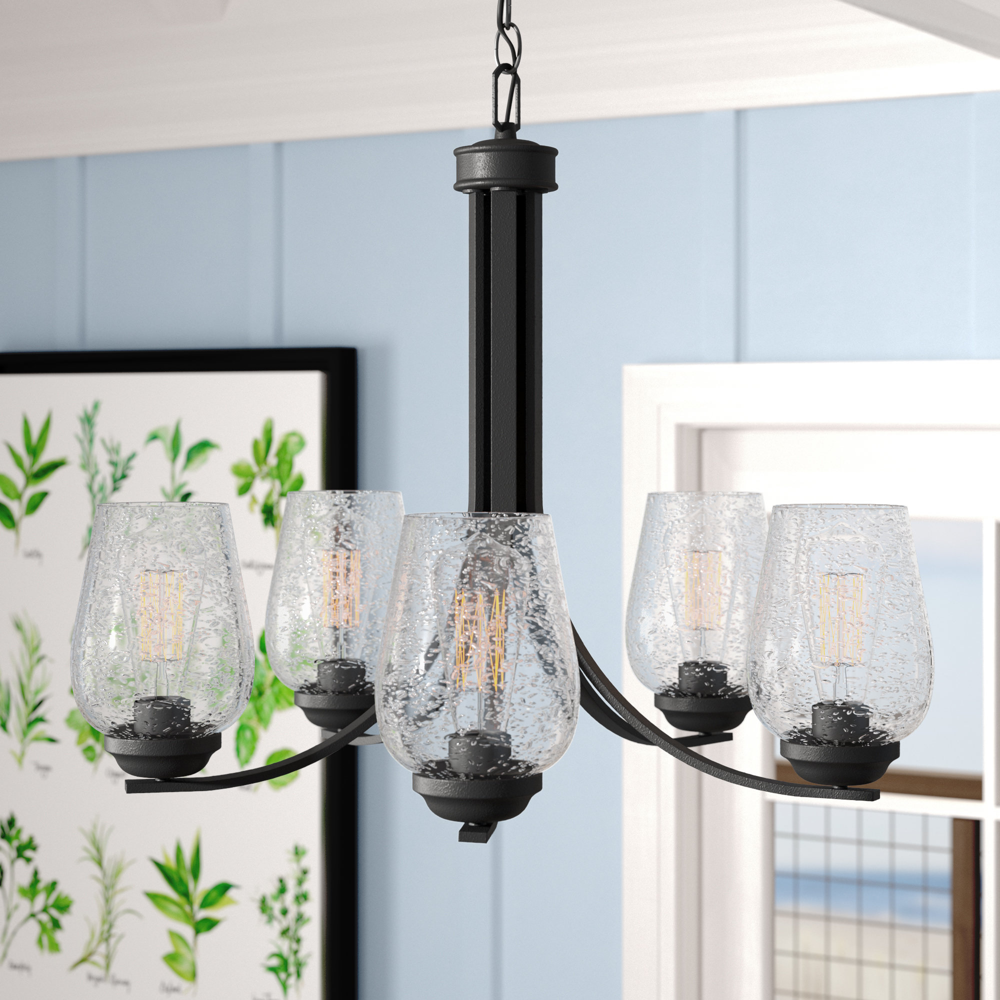 Suki 5 Light Shaded Chandelier | Wayfair Pertaining To Suki 5 Light Shaded Chandeliers (View 19 of 30)