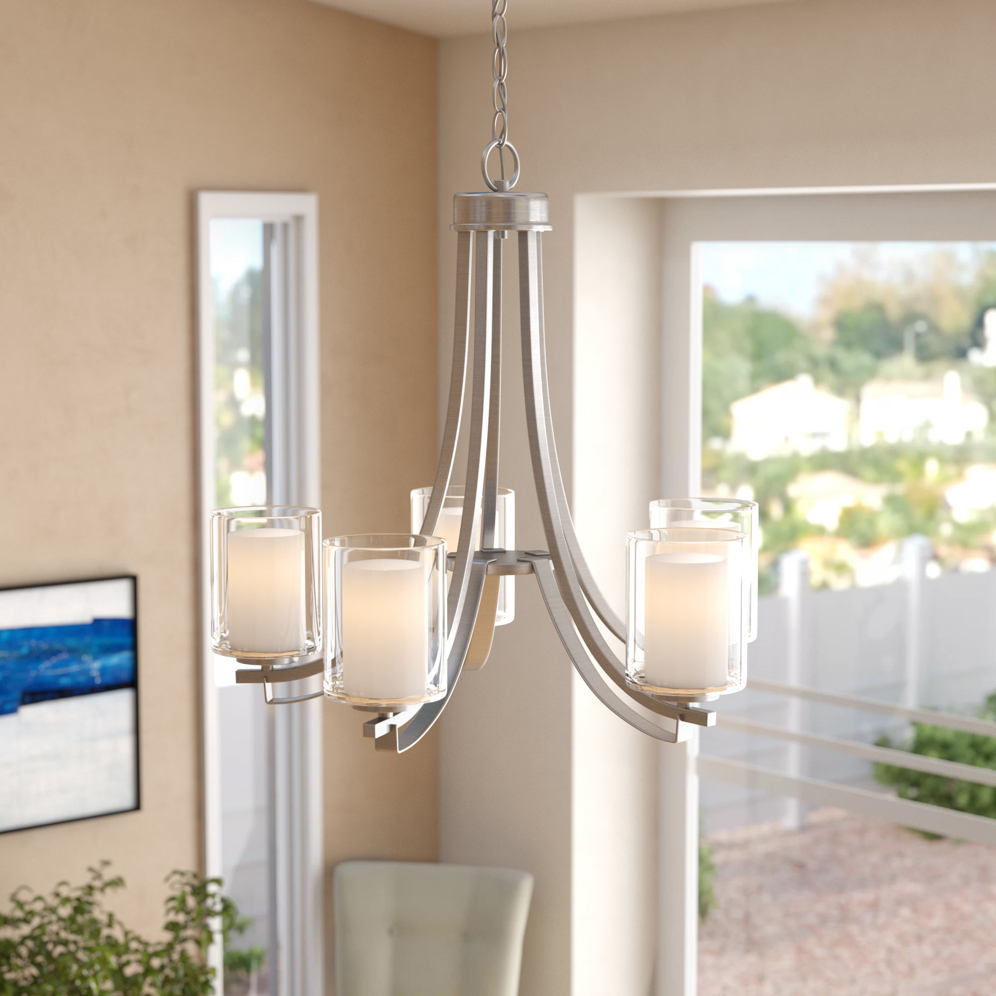 Suki 5 Light Shaded Chandelier | Wayfair Pertaining To Suki 5 Light Shaded Chandeliers (View 18 of 30)