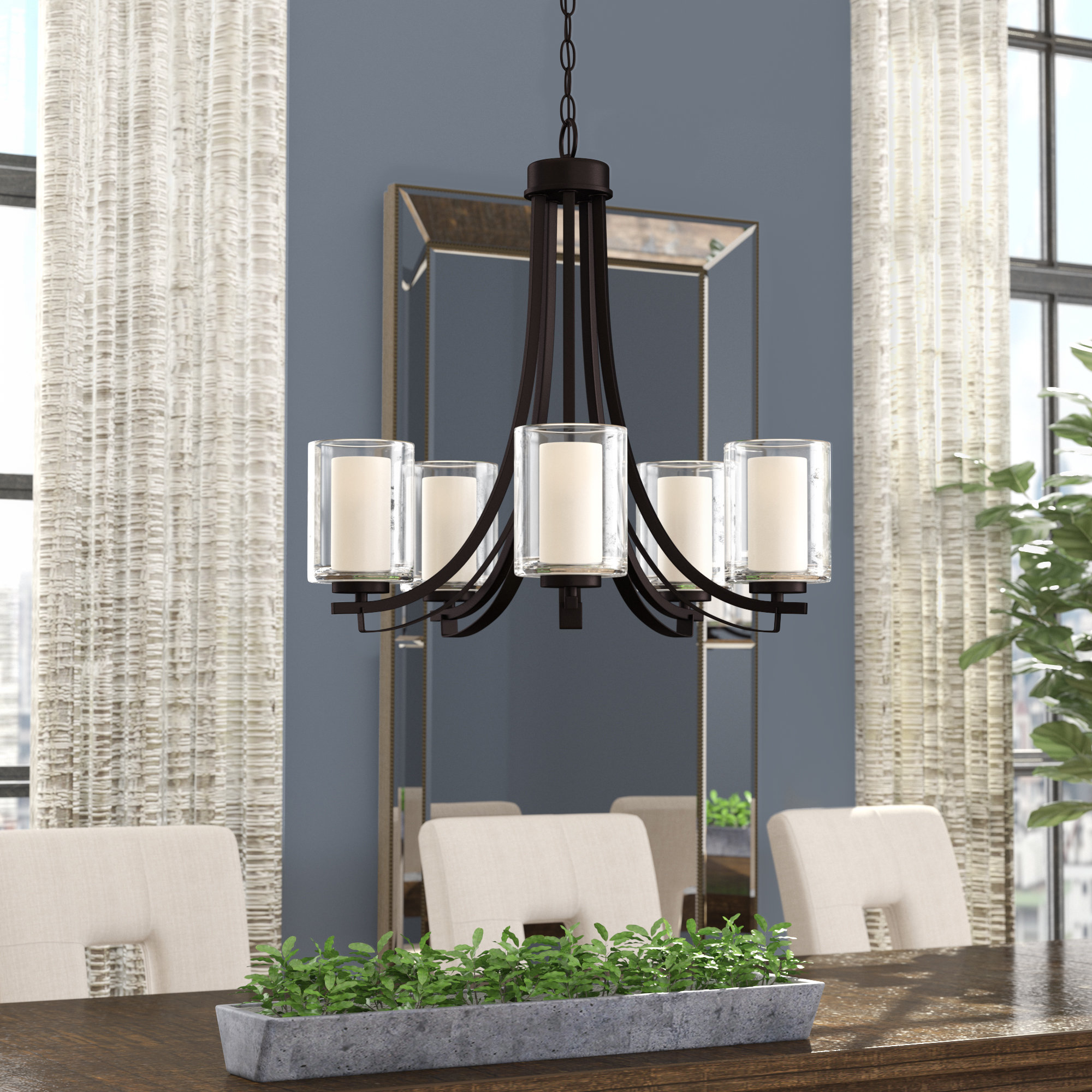 Suki 5 Light Shaded Chandelier | Wayfair With Regard To Suki 5 Light Shaded Chandeliers (View 22 of 30)