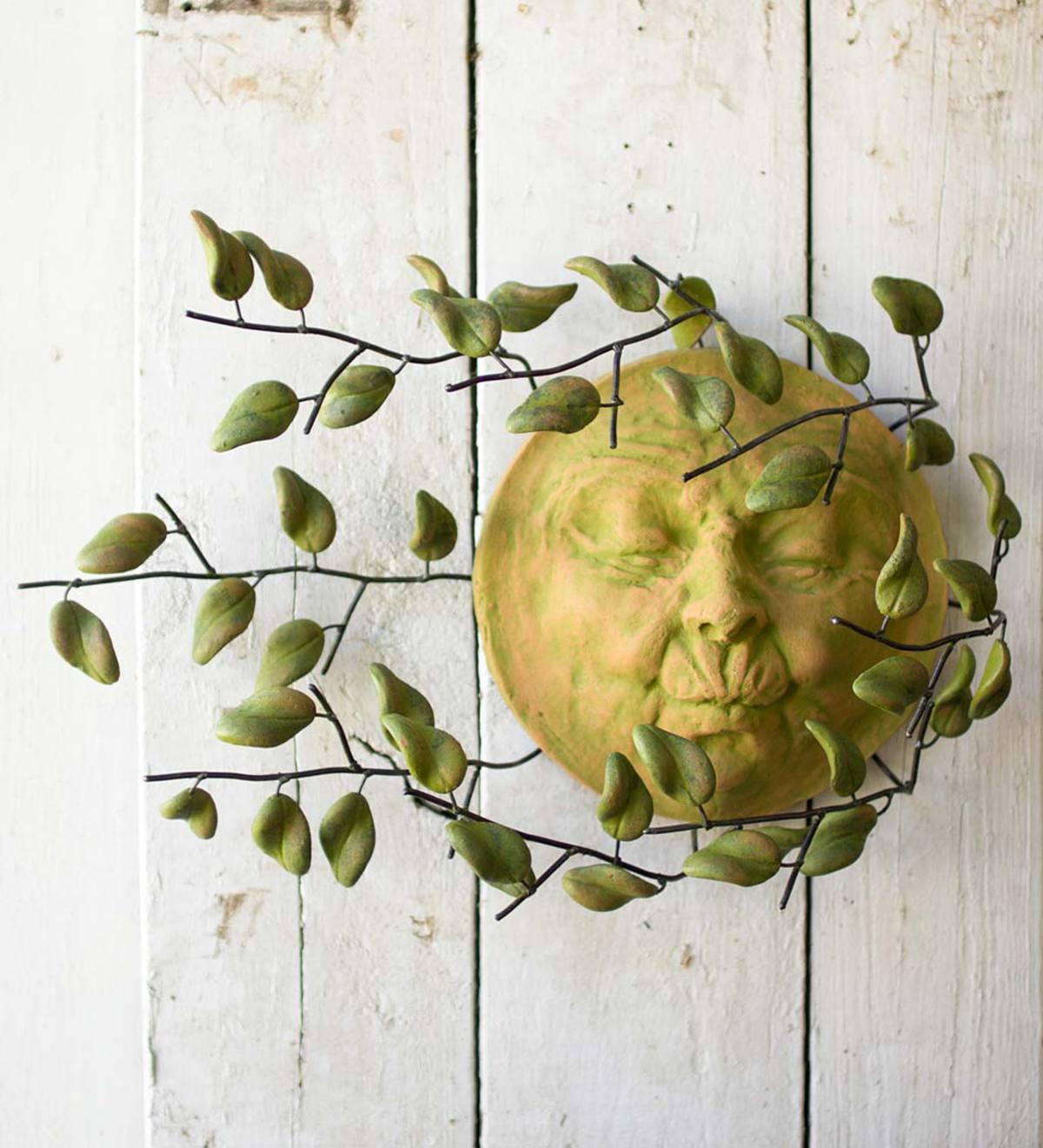 Sun Face With Blowing Leaves Wall Art In Blowing Leaves Wall Decor (View 16 of 30)
