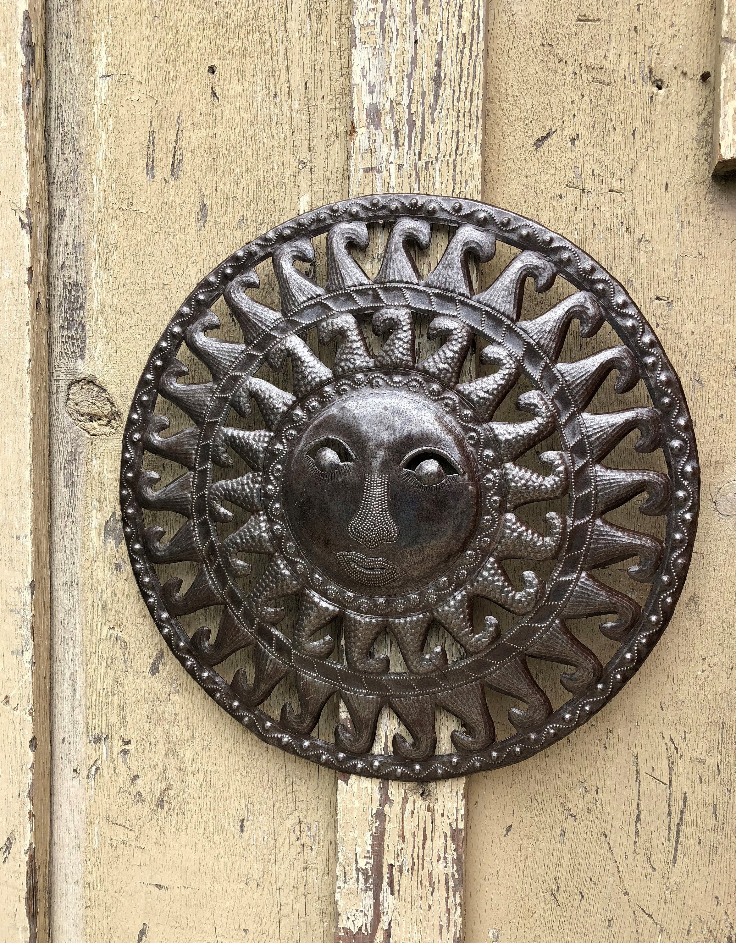 Sun Moon Celestial – Art Under The Tree Haiti Metal Art For Recycled Moon And Sun Wall Decor (View 11 of 30)