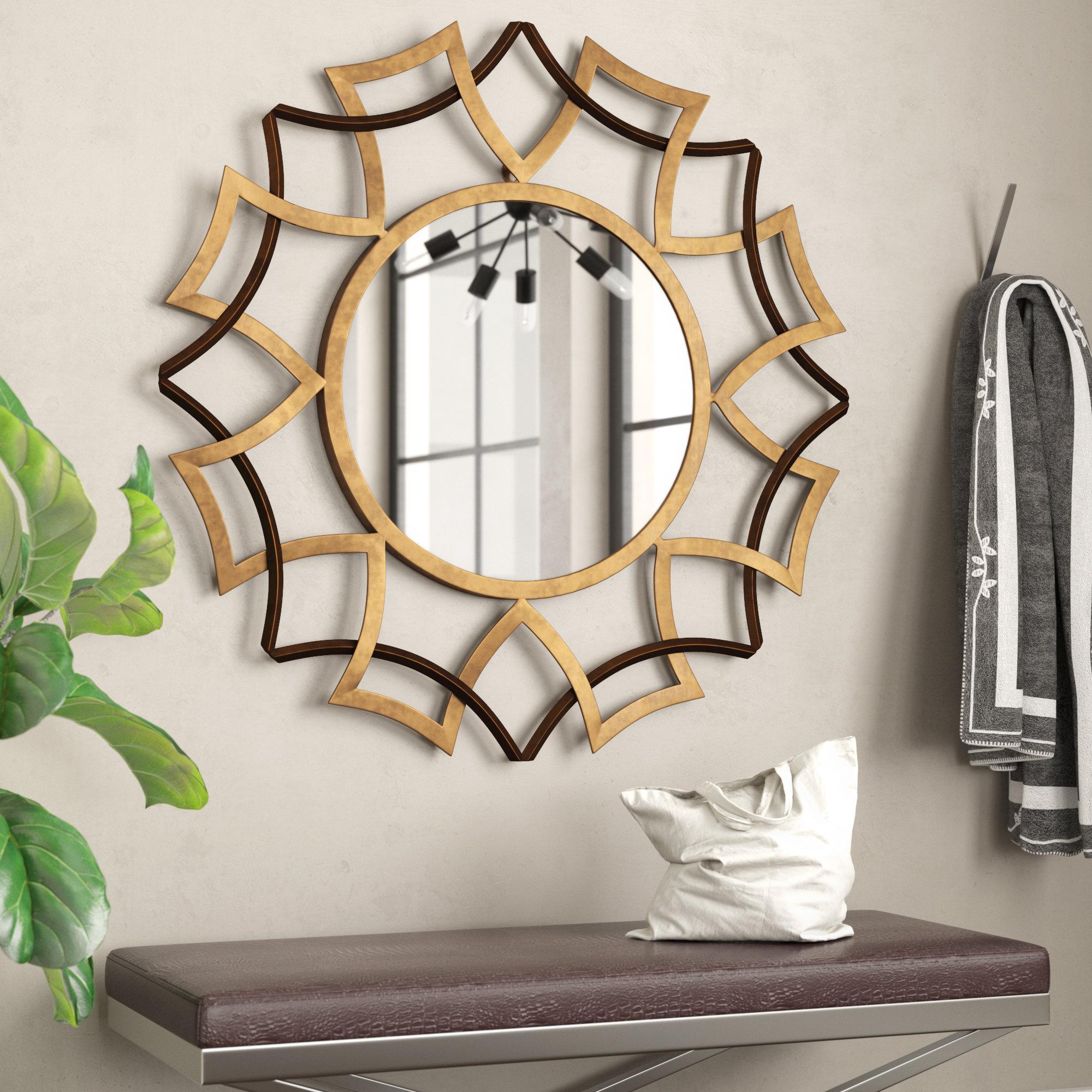 Sunburst Wall Mirrors You'll Love In 2019 | Wayfair Pertaining To Estrela Modern Sunburst Metal Wall Mirrors (View 26 of 30)