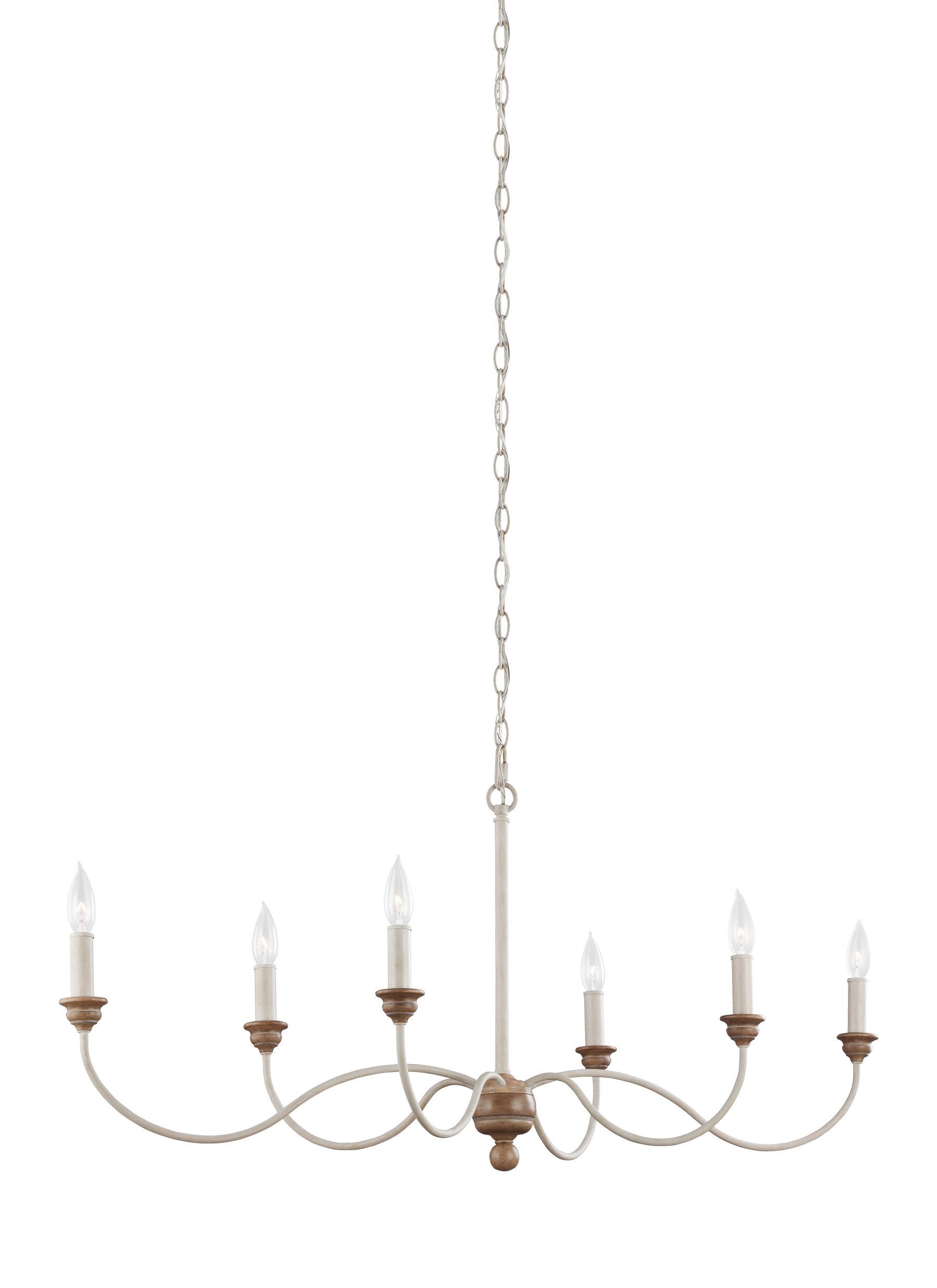 Sundberg 6 Light Candle Style Chandelier Regarding Diaz 6 Light Candle Style Chandeliers (View 19 of 30)