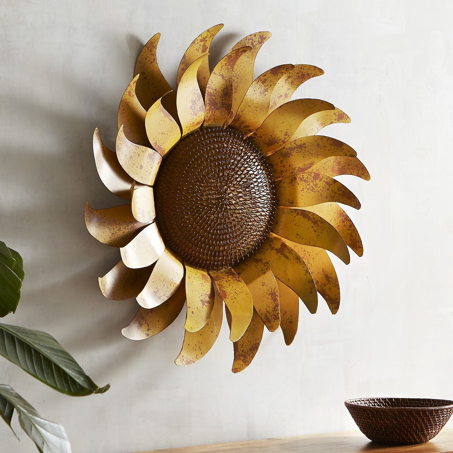 Sunflower Metal Wall Decor Yellow | Products In 2019 In Nature Metal Sun Wall Decor (View 2 of 30)