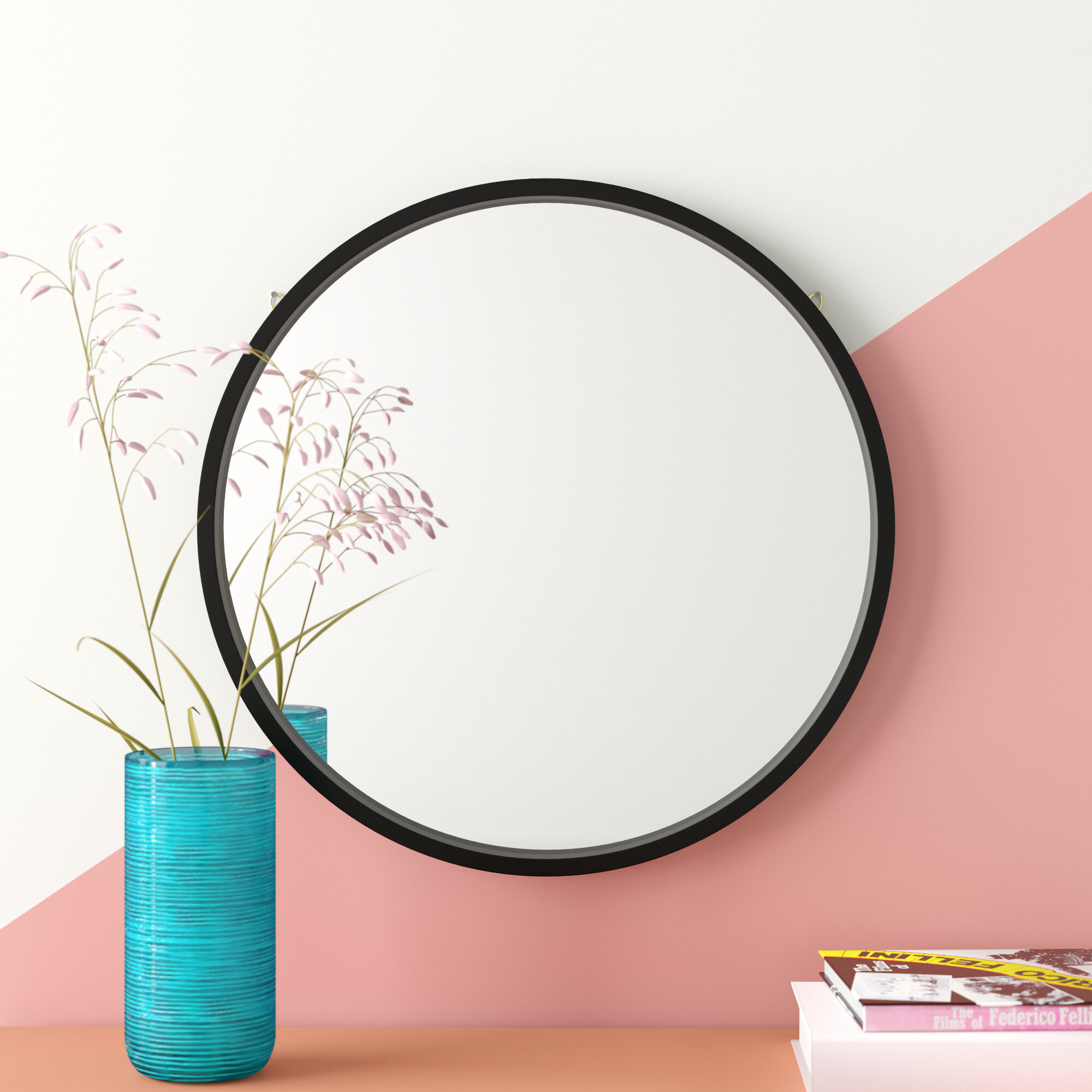 Swagger Accent Wall Mirror & Reviews | Joss & Main within Rhein Accent Mirrors (Image 28 of 30)