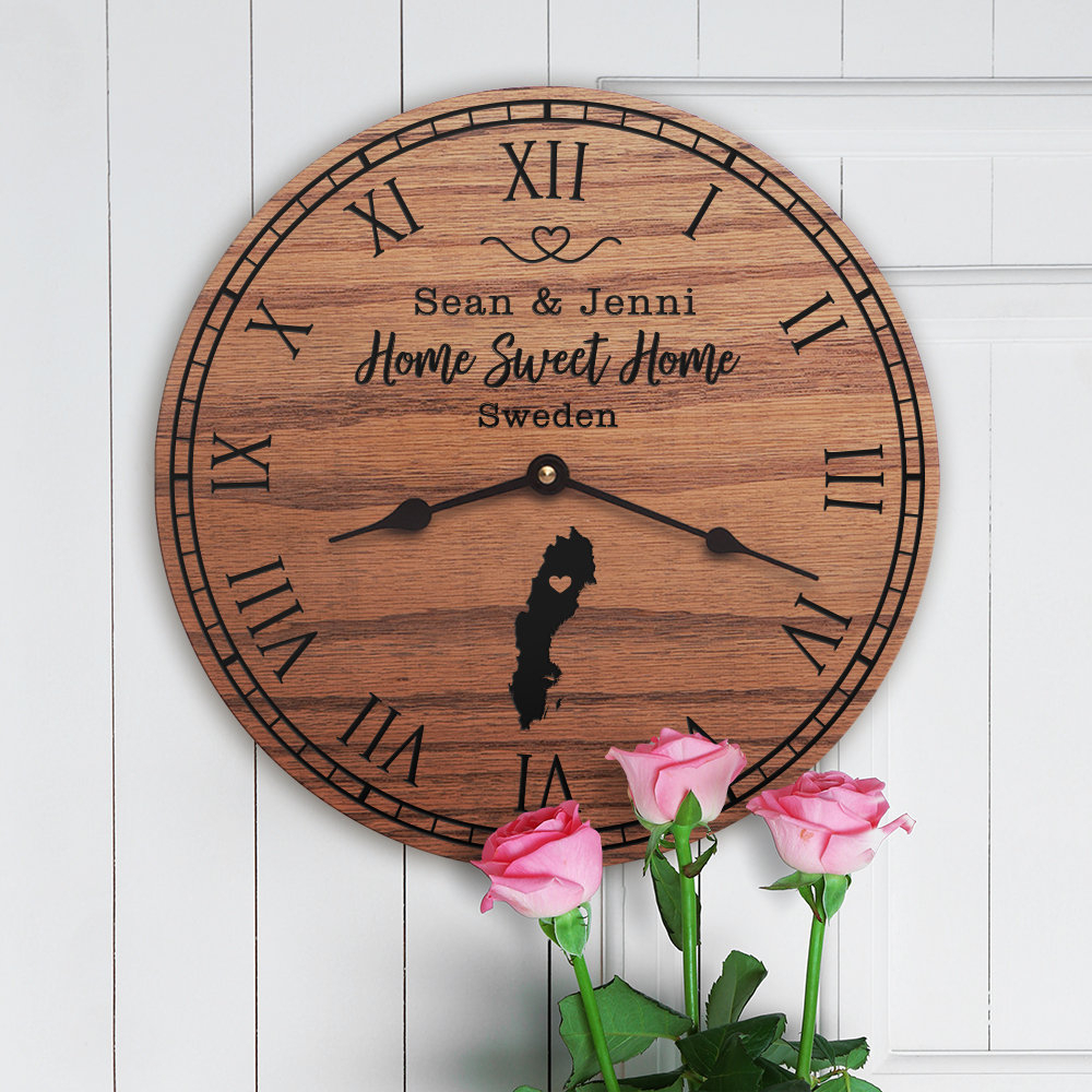 Sweden Housewarming Gift – Sweden Decor – Sweden Map – Custom Names – Nordic – Scandinavian – Home Sweet Home – New Home – Sweden Home With Regard To Laser Engraved Home Sweet Home Wall Decor (View 8 of 30)