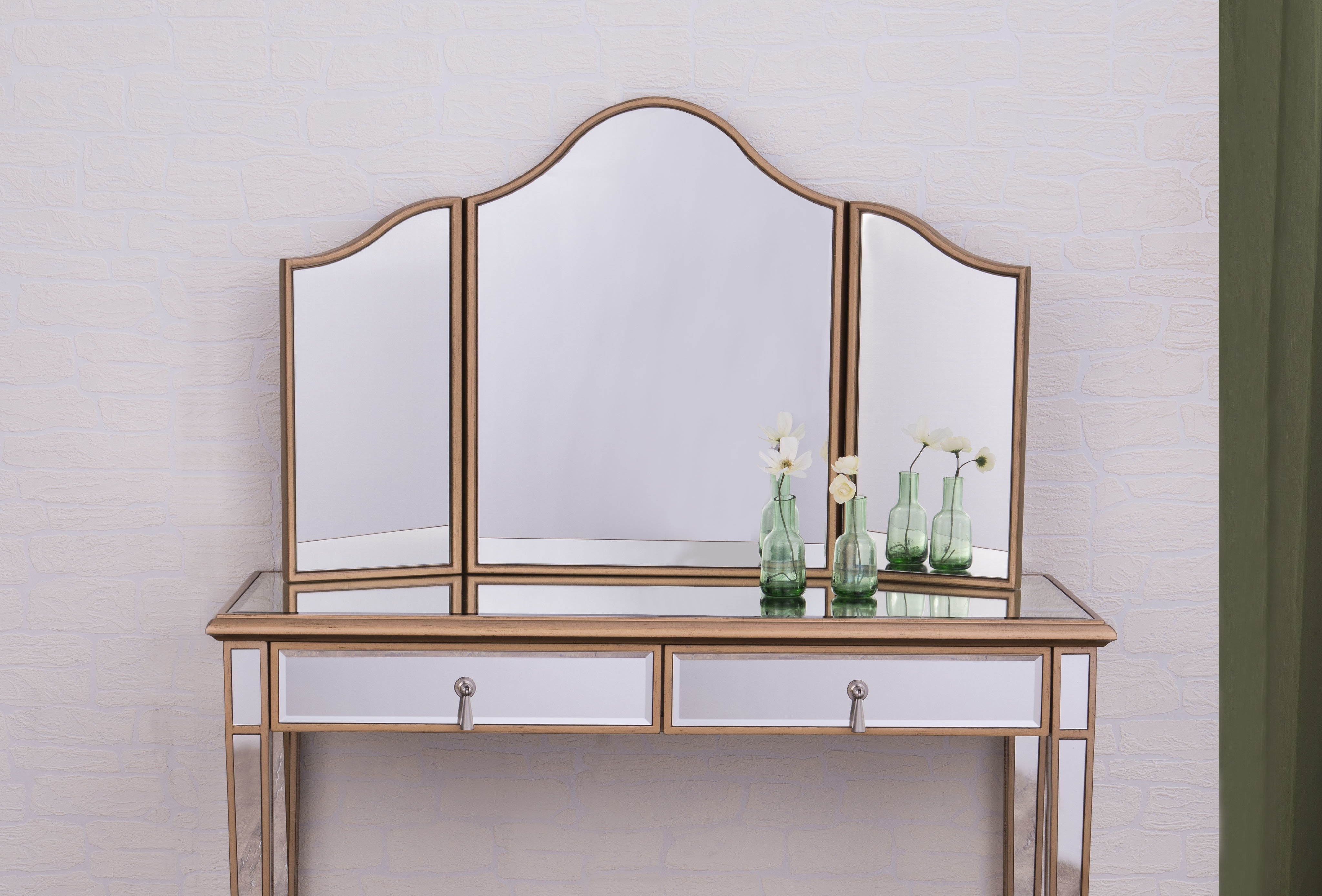 Tall Arched Scalloped Mirror | Wayfair pertaining to Dariel Tall Arched Scalloped Wall Mirrors (Image 25 of 30)