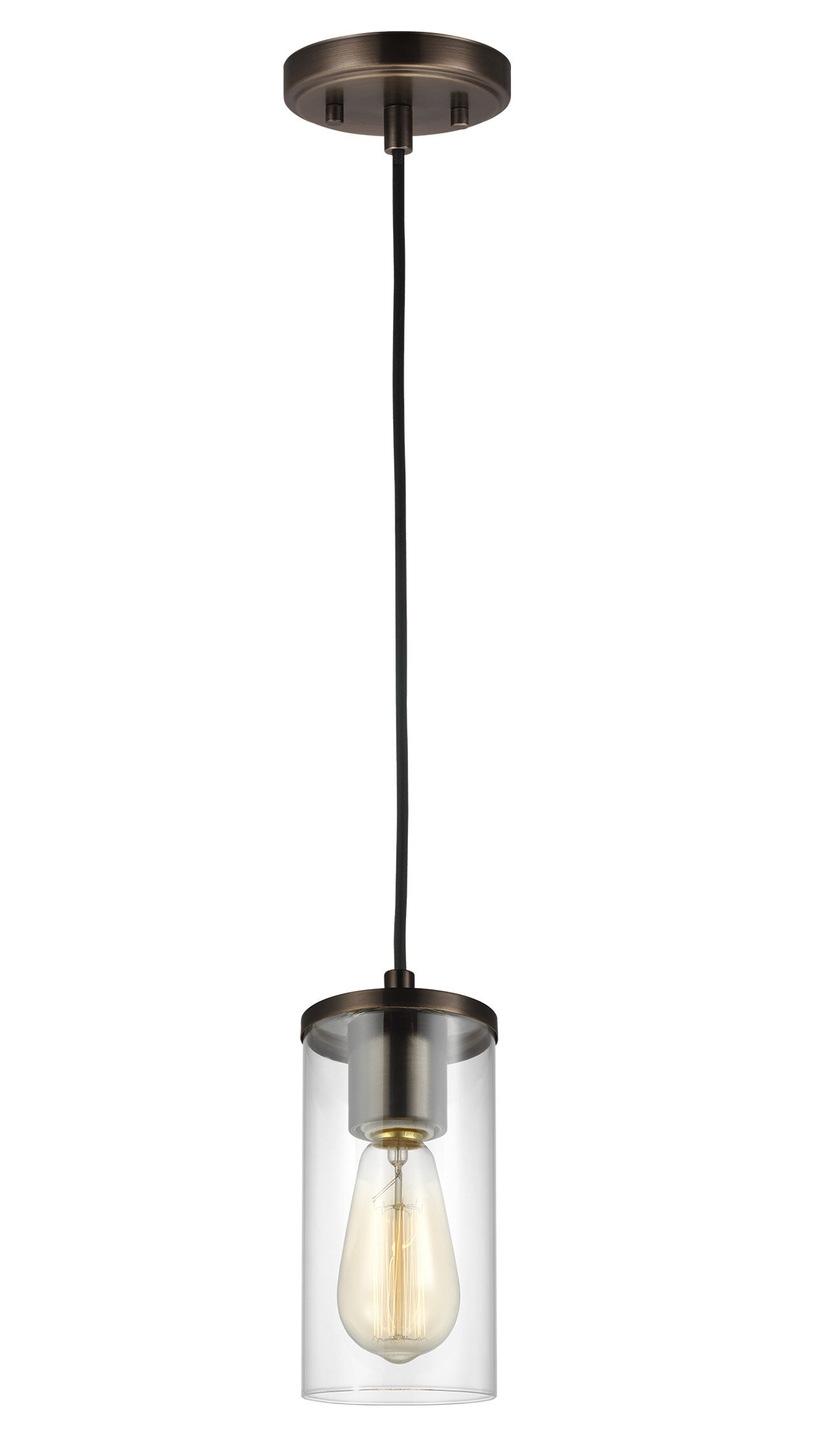 Tallapoosa 1-Light Single Cylinder Pendant with Jayce 1-Light Cylinder Pendants (Image 27 of 30)