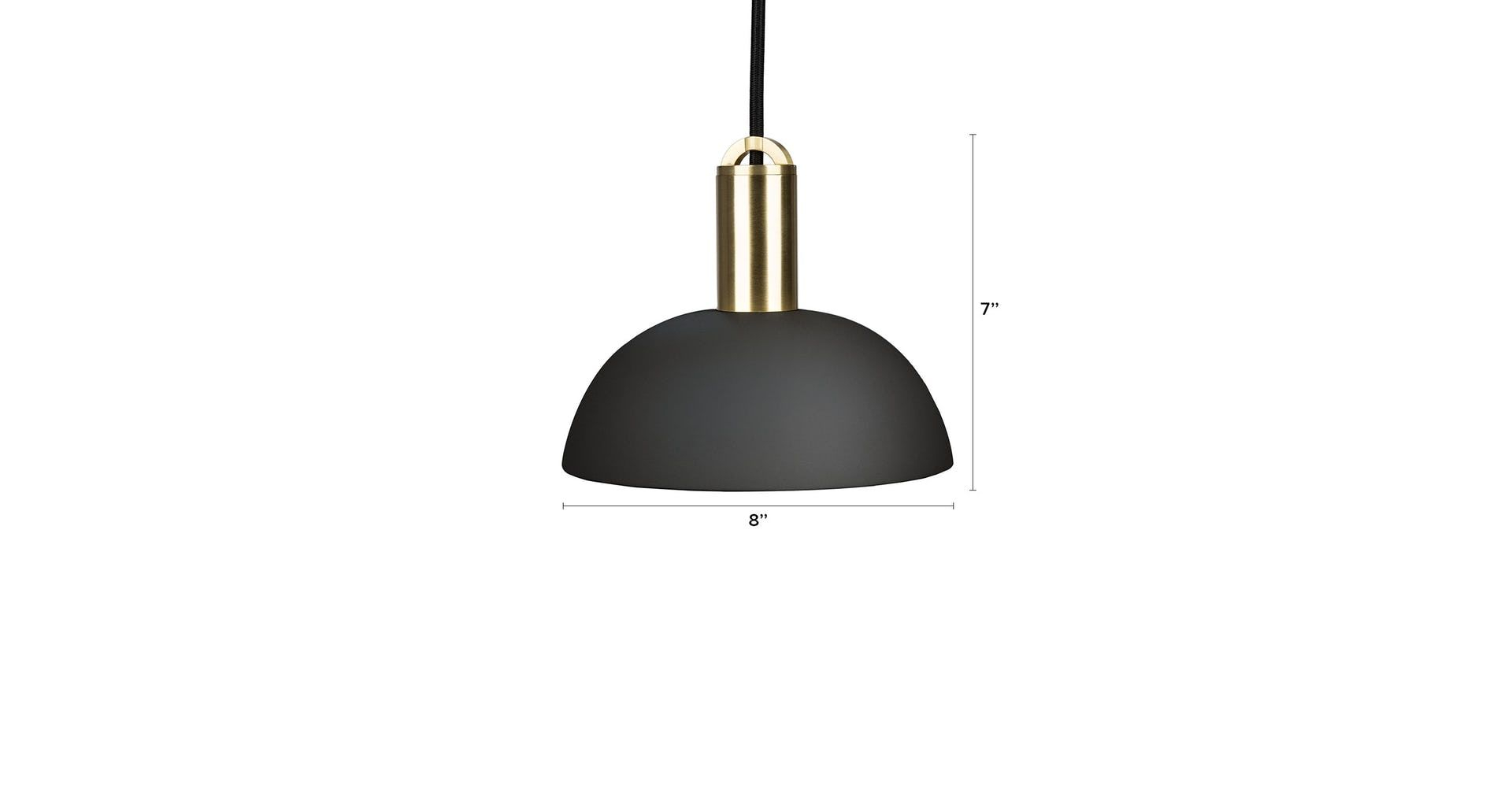 Tangent Dome Black Pendant Lamp In 2019 | Lighting | Pendant intended for Stetson 1-Light Bowl Pendants (Image 27 of 30)