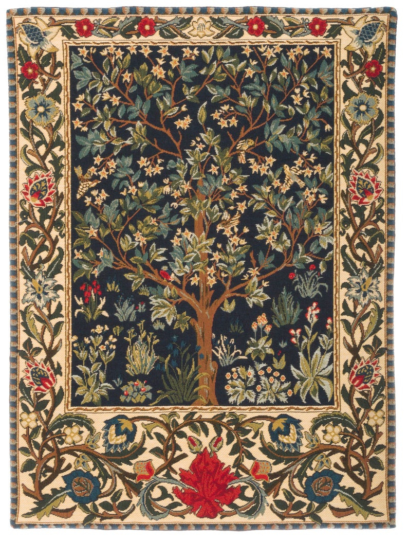 Tapestry Wall Hanging Tree Of Life – Tree Of Life Wall Hanging Tapestry – William Morris Wall Tapestry – William Morris Decor – Wt 1085 In Tree Of Life Wall Decor (View 17 of 30)