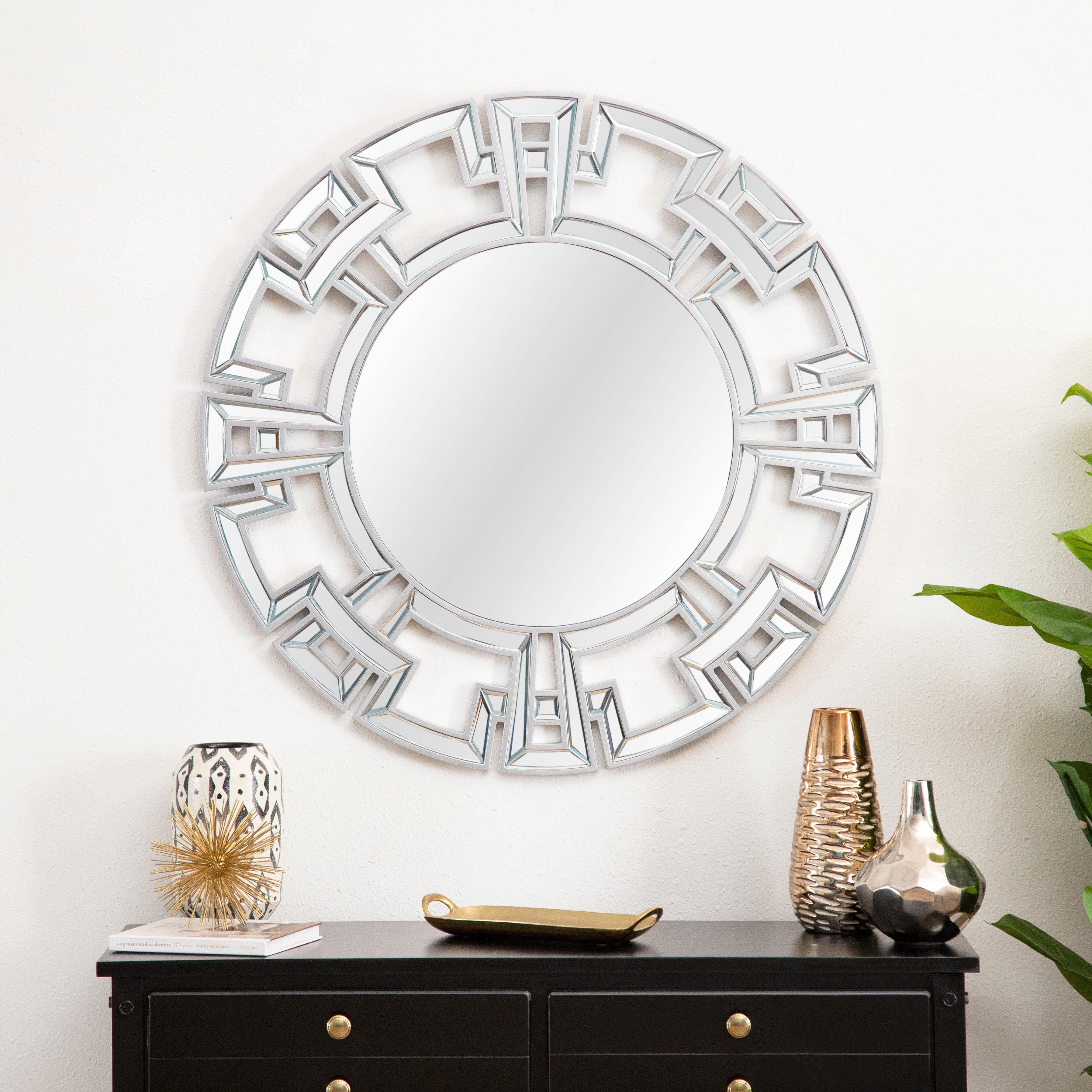 Featured Photo of Tata Openwork Round Wall Mirrors