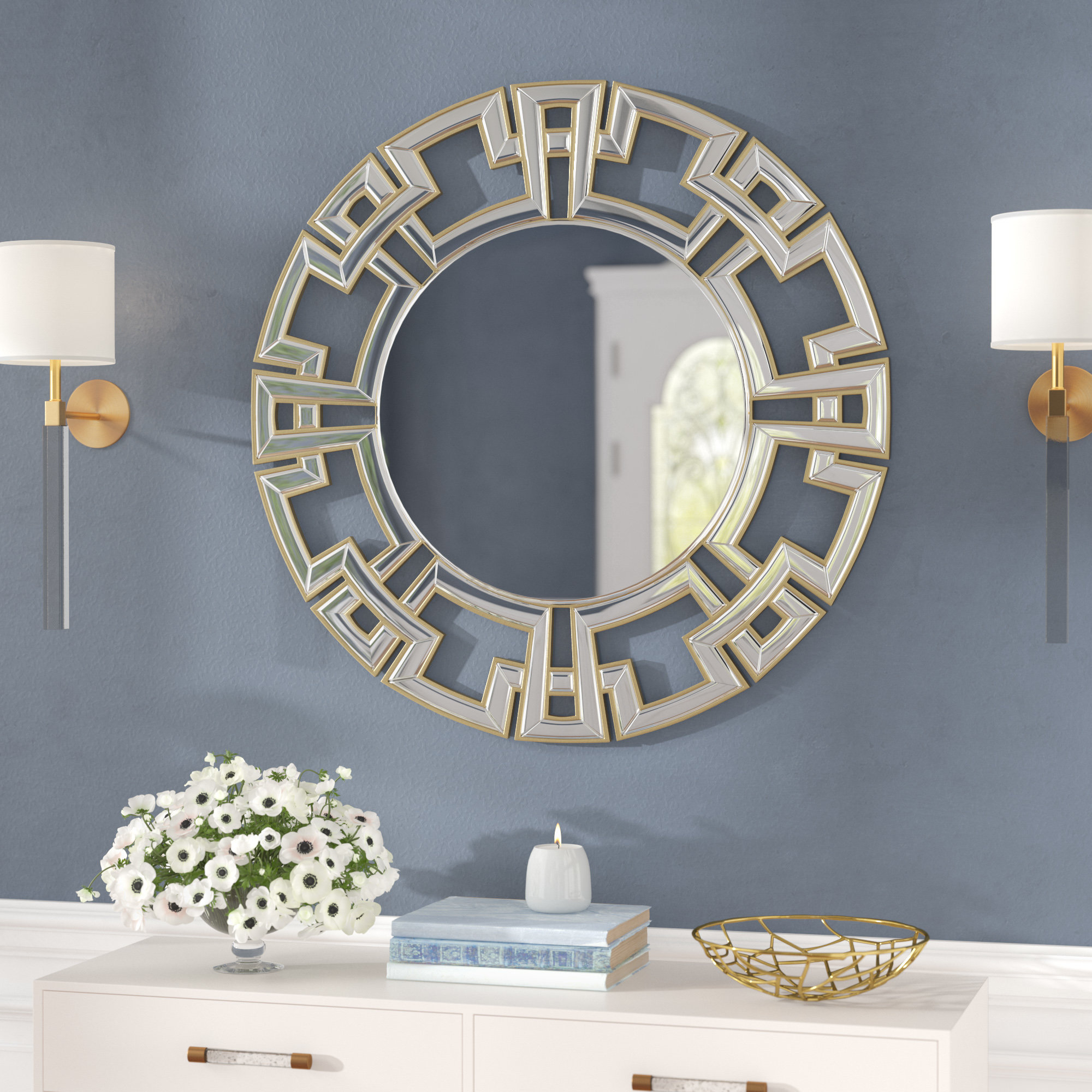 Tata Openwork Round Wall Mirror With Regard To Tata Openwork Round Wall Mirrors (View 4 of 30)