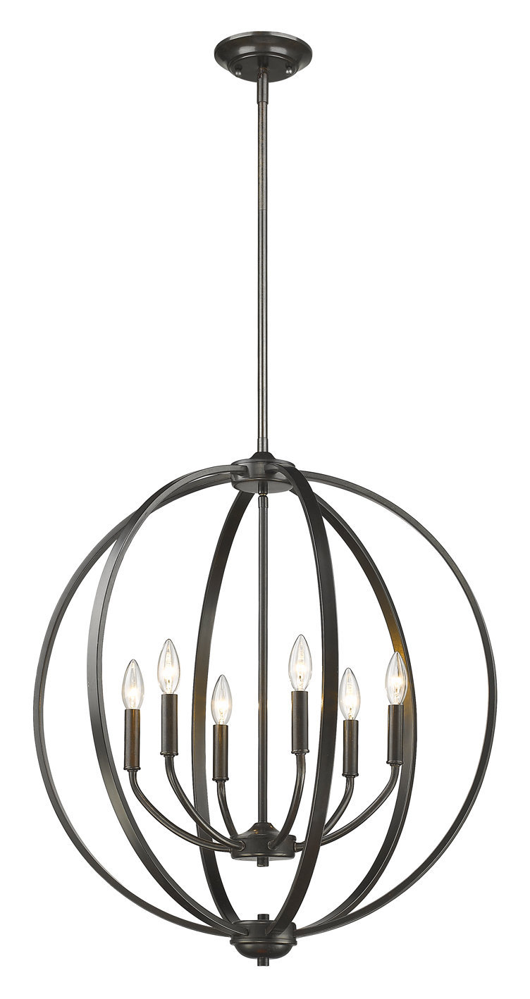 Tensed 6-Light Globe Chandelier in Donna 6-Light Globe Chandeliers (Image 29 of 30)
