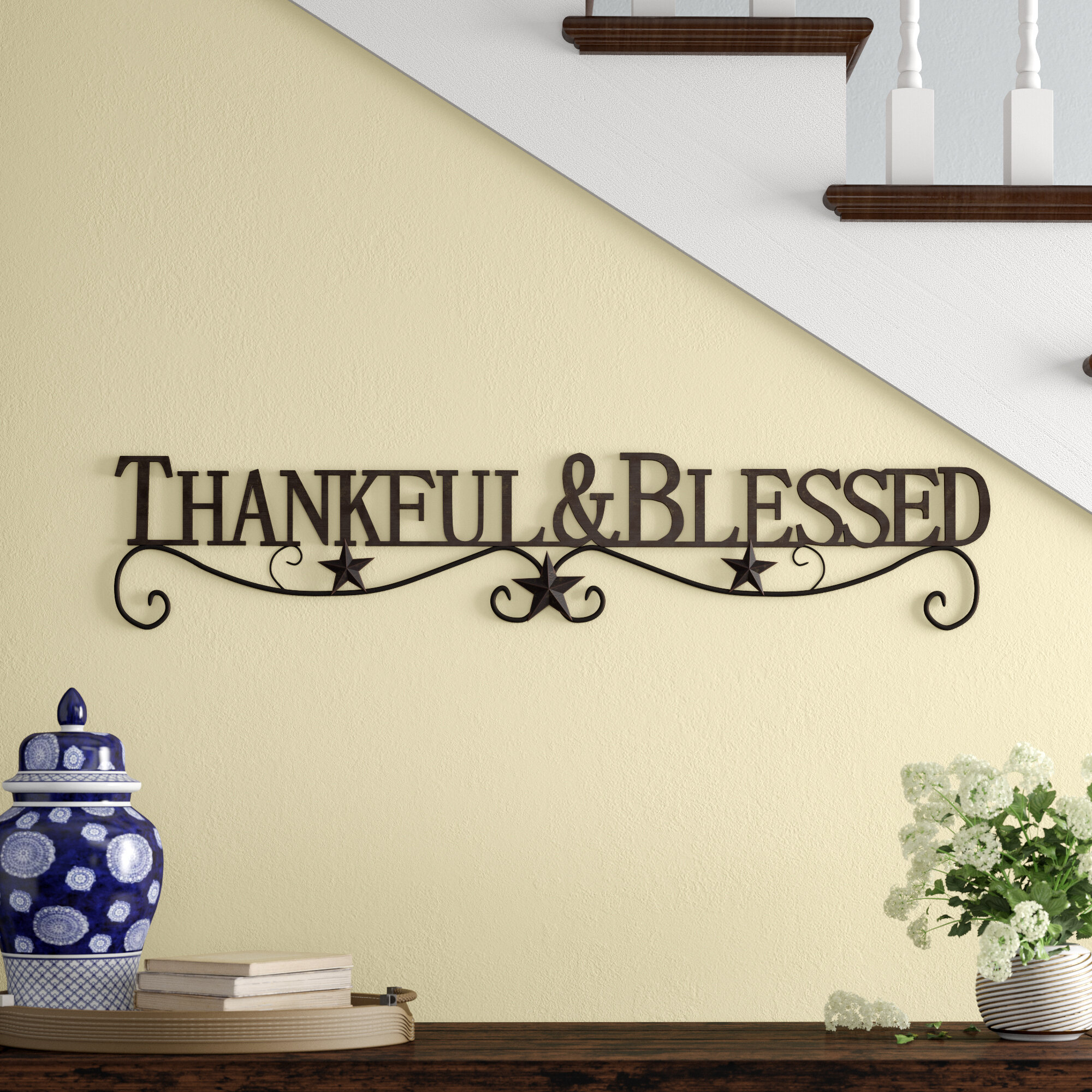 Thankful And Blessed Metal Wall Décor Throughout Blessed Steel Wall Decor (View 10 of 30)